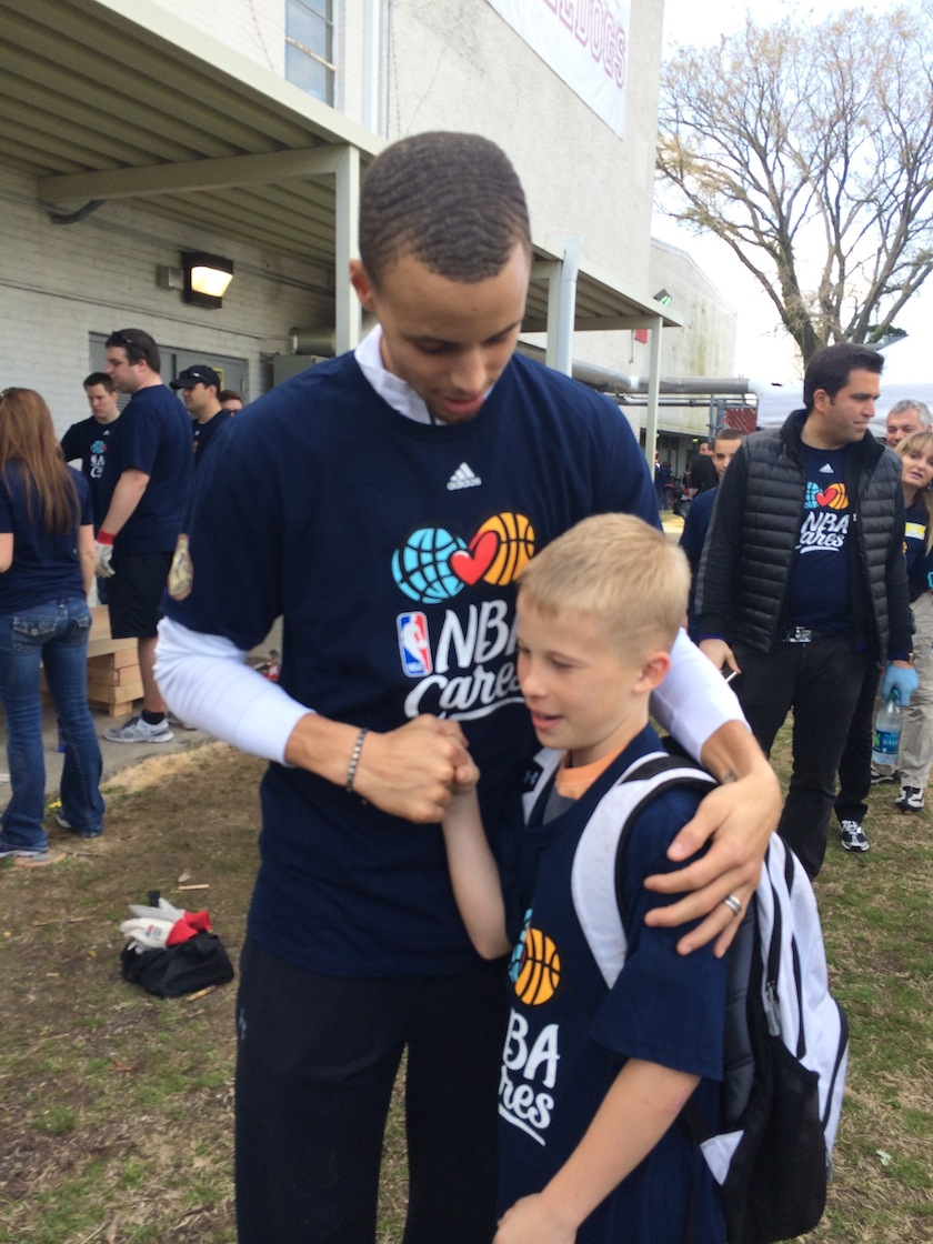Steph Curry and Cooper Smith