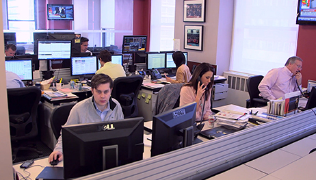 The INTL FCStone metals-trading team in its New York City headquarters.