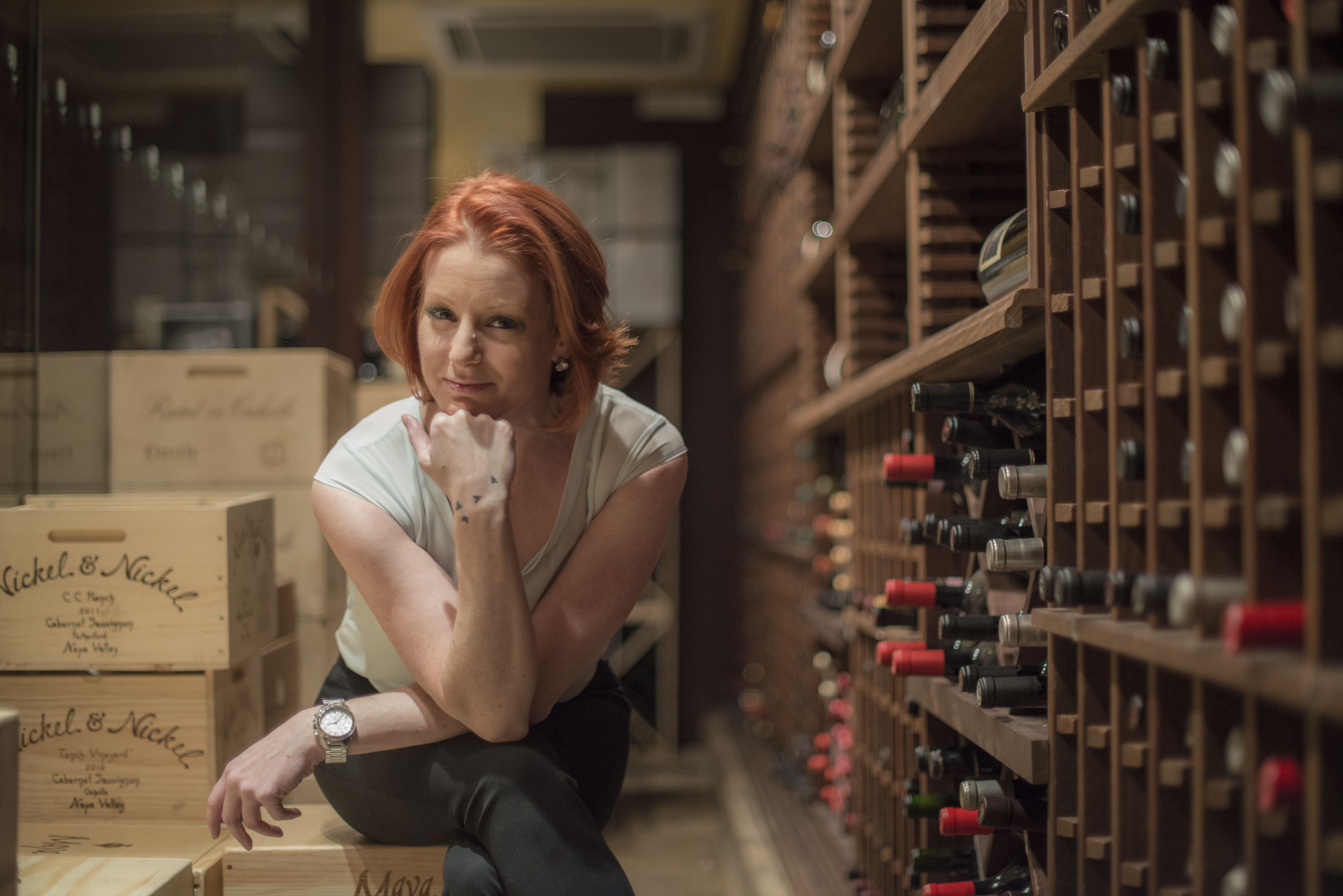 Jessica Certo, wine director at Del Frisco's Double Eagle Steakhouse in Manhattan
