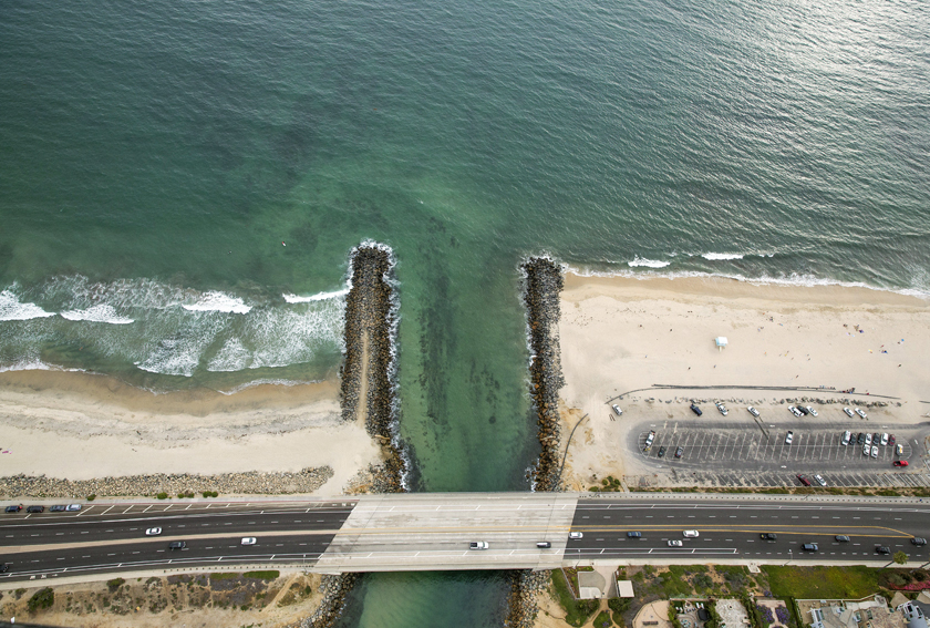 A seawater intake point for the Carlsbad desalination plant, which will eventually produce 50 million gallons a day of freshwater.