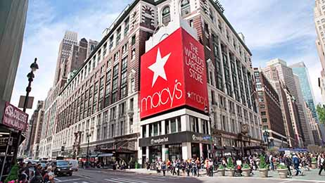 Macy's flagship store at 151 West 34th Street in Herald Square in New York City.