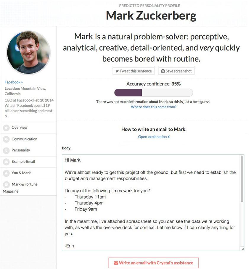 Mark Zuckerberg Crystal profile