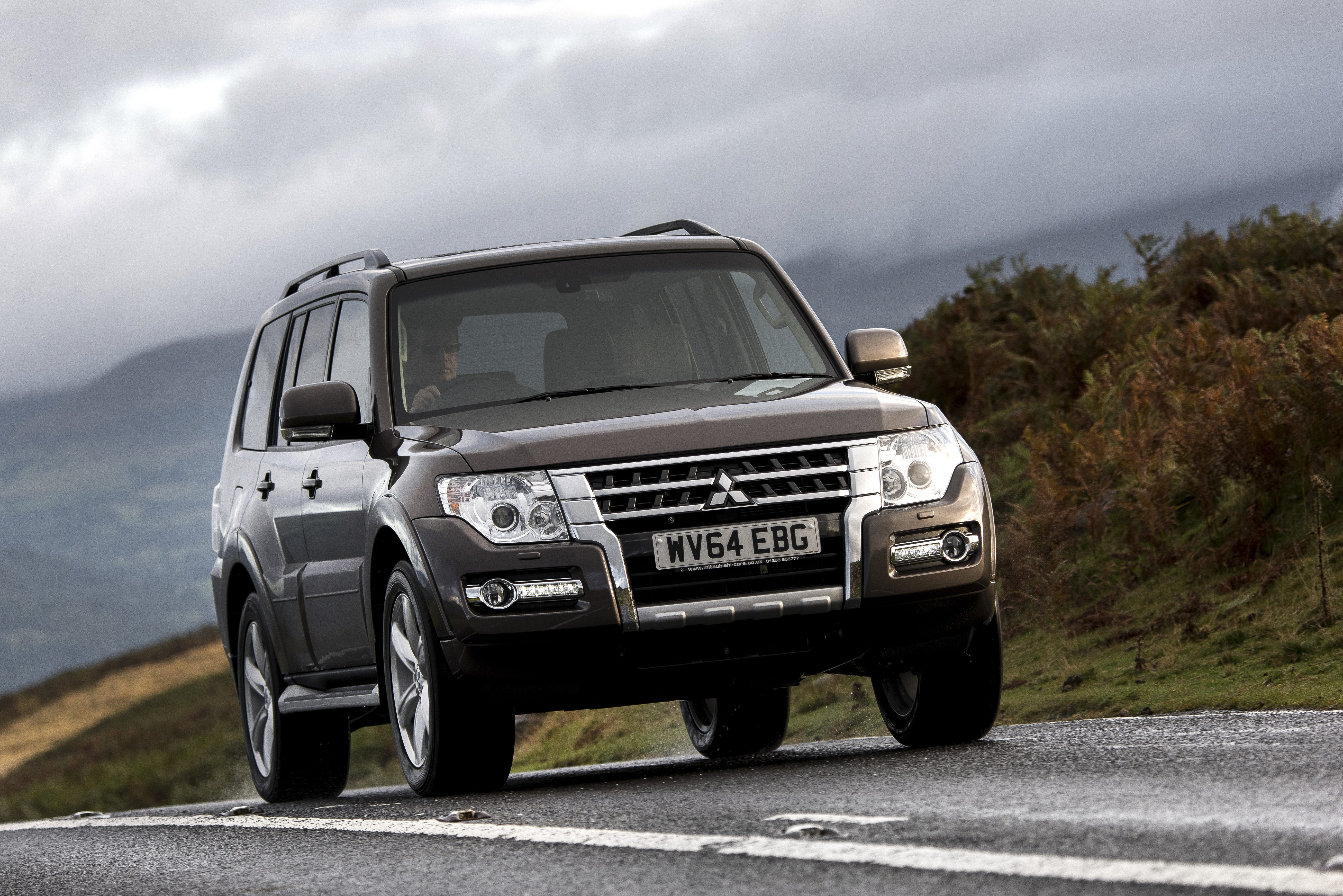 The Mitsubishi Shogun, also known as the Pajero or Montero in other markets.  Mitsubishi announced plans to offer Apple CarPlay and Android Auto products in its 2016 Pajero this summer in Europe.