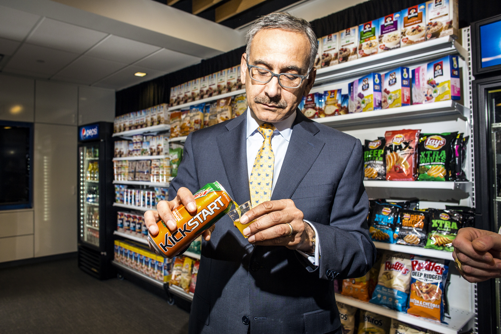 Mehmood Kahn at Pepsico headquarters. April 2015
