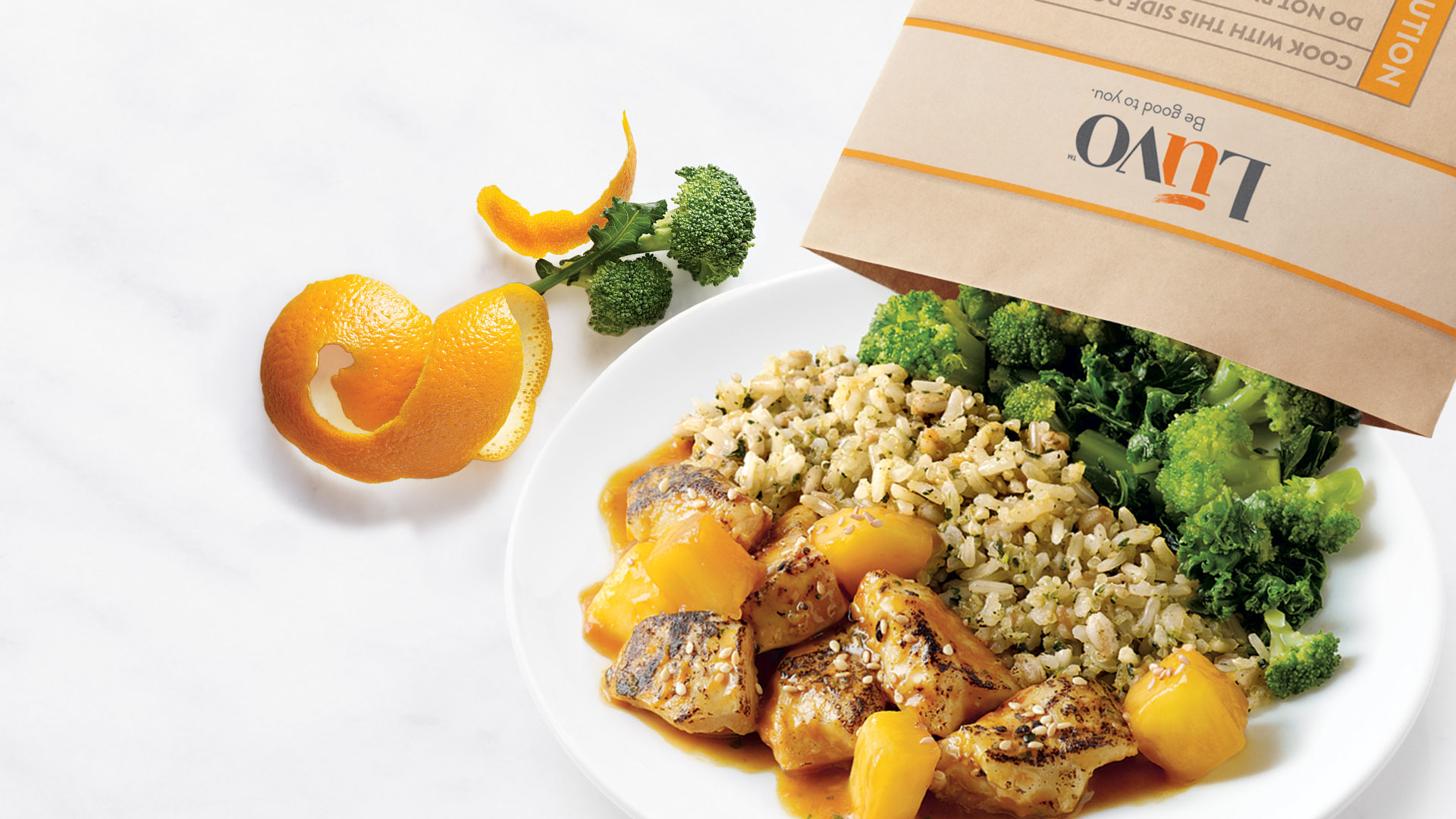 Frozen-food company Luvo makes meals low in sodium and added sugars.