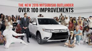 """Mitsubishi's new """"100 Spokespeople"""" ad is an attempt to puncture consumers' indifference."""