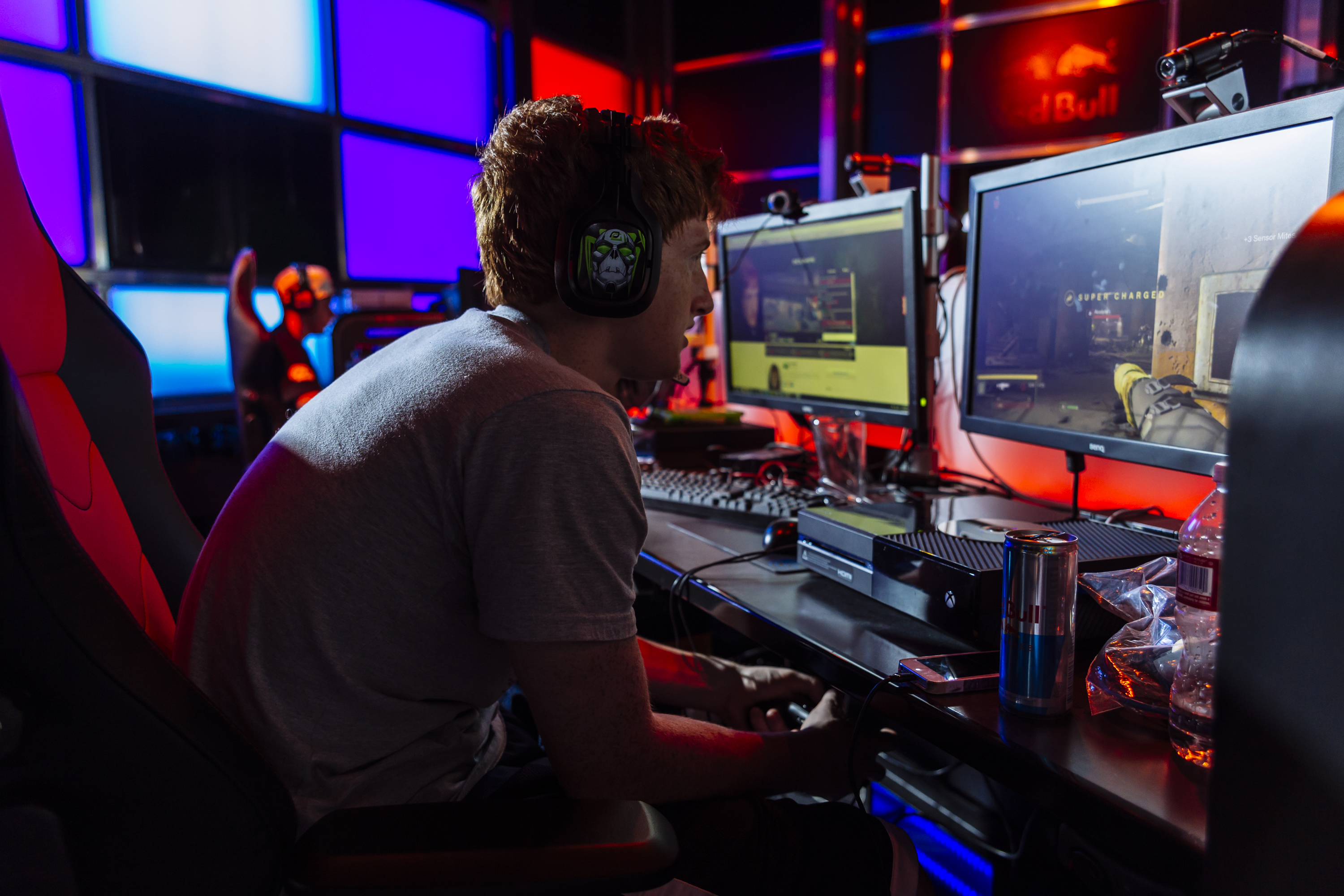 At the Red Bull High Performance eSports Lab in Santa Monica science and gaming collide.