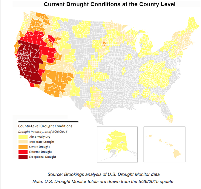 Brookings Institution Drought Map June 2015