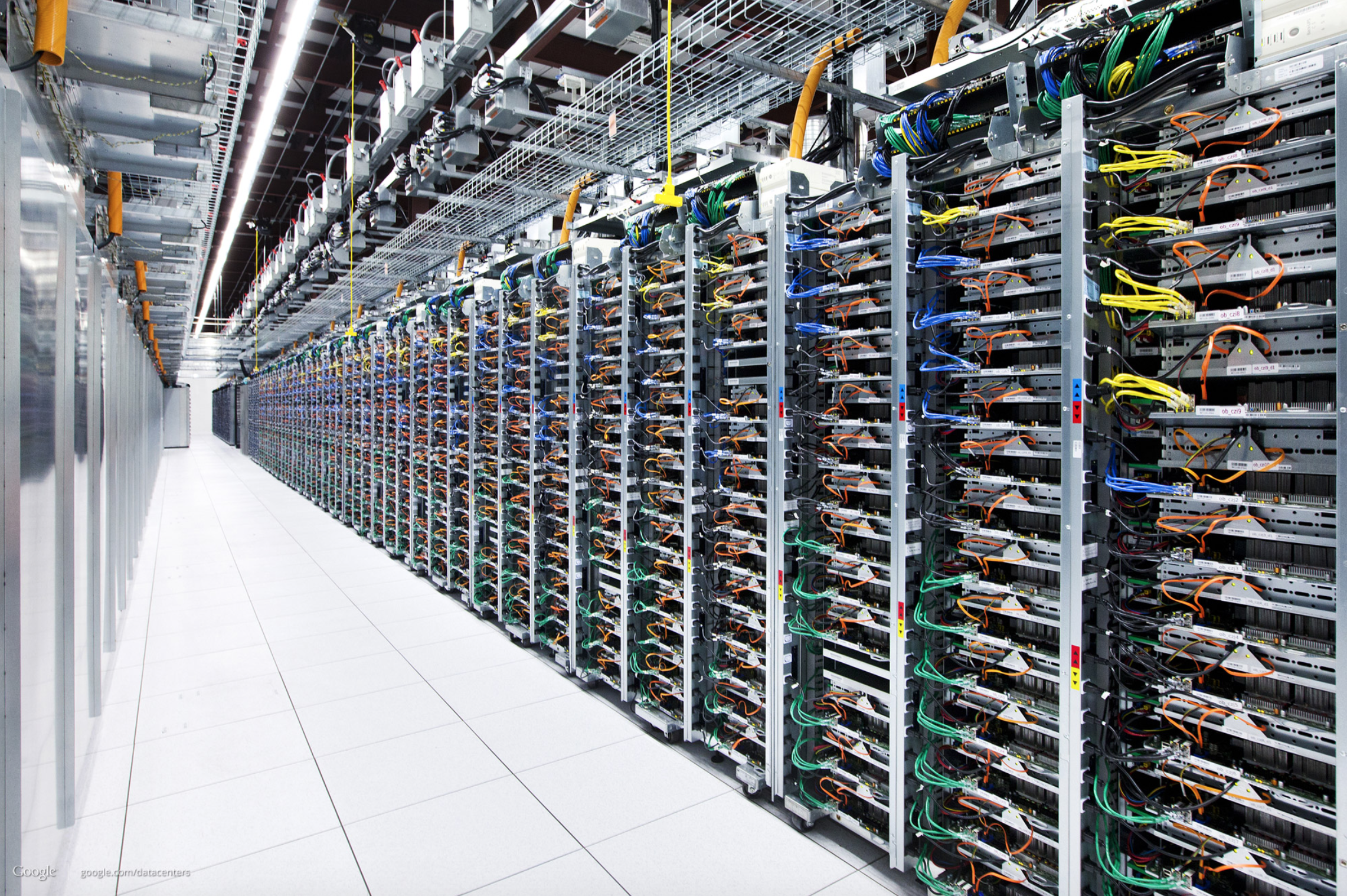 Google's data center in Oklahoma.