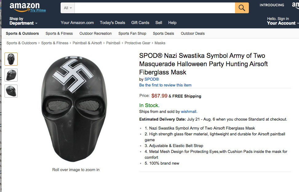 An example of some of the Nazi-themed items sold on Amazon.