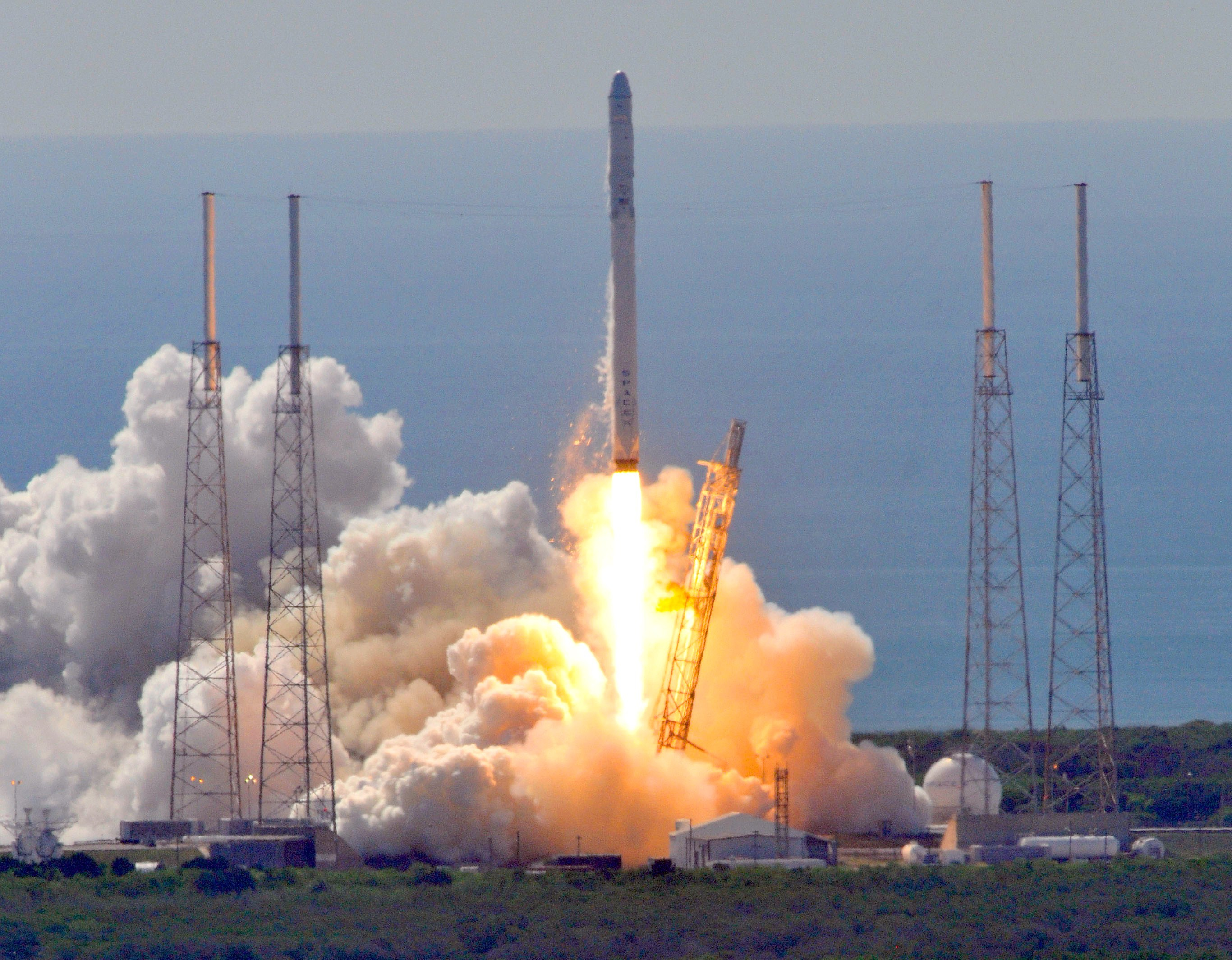 SpaceX's Falcon 9 rocket launches at Cape Canaveral