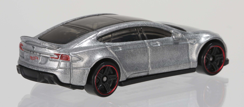 Hot Wheels 1:64 model of Tesla Motors' Model S all-electric sedan.