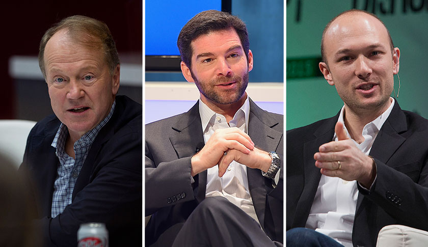 John Chambers, Jeff Weiner and Logan Green.