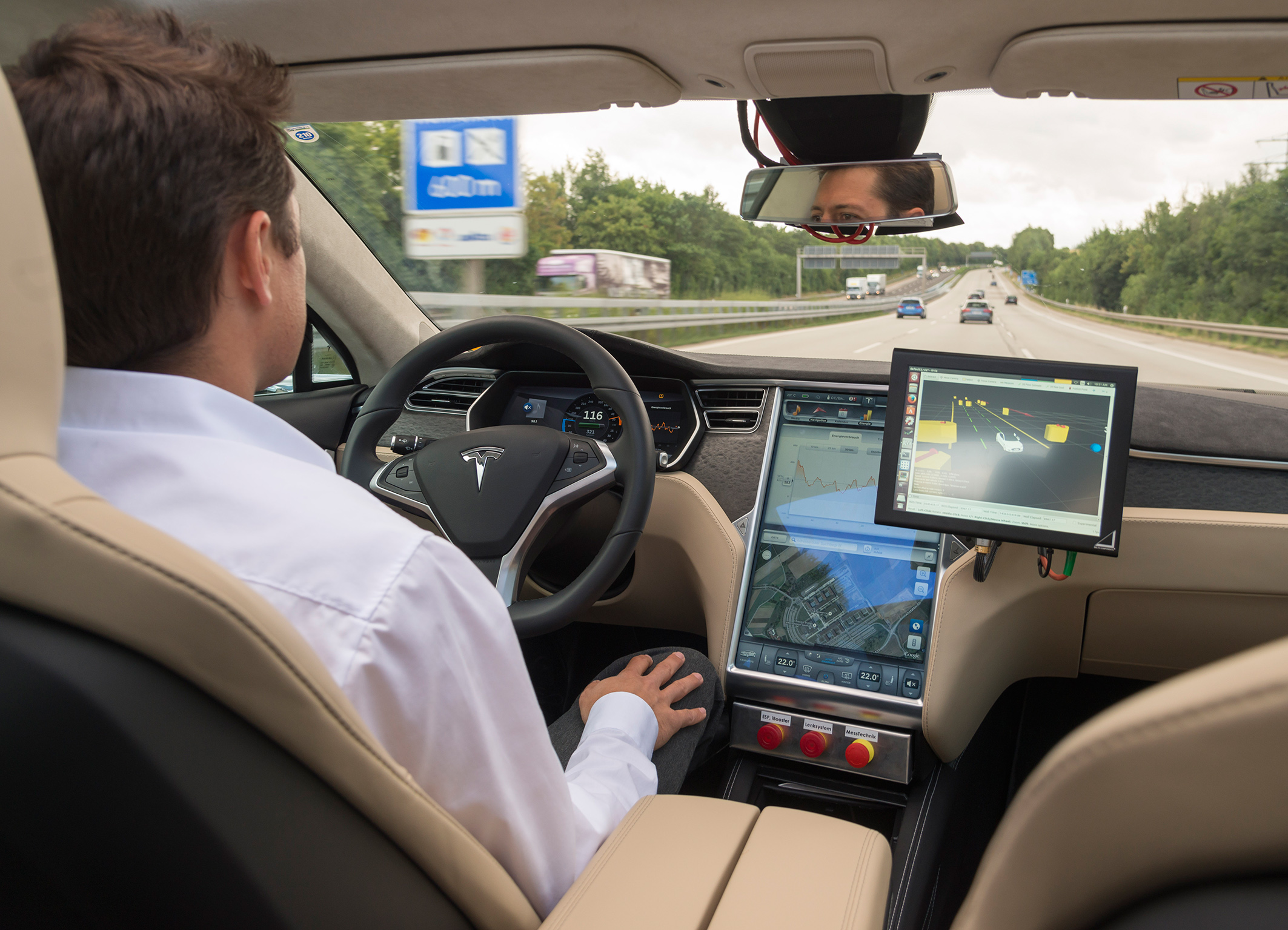 Bosch started testing automated driving on public roads at the beginning of 2013. The latest test vehicles are based on the Tesla Model S.