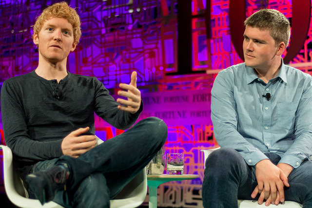 Stripe co-founders Patrick (left) and John Collison (right)