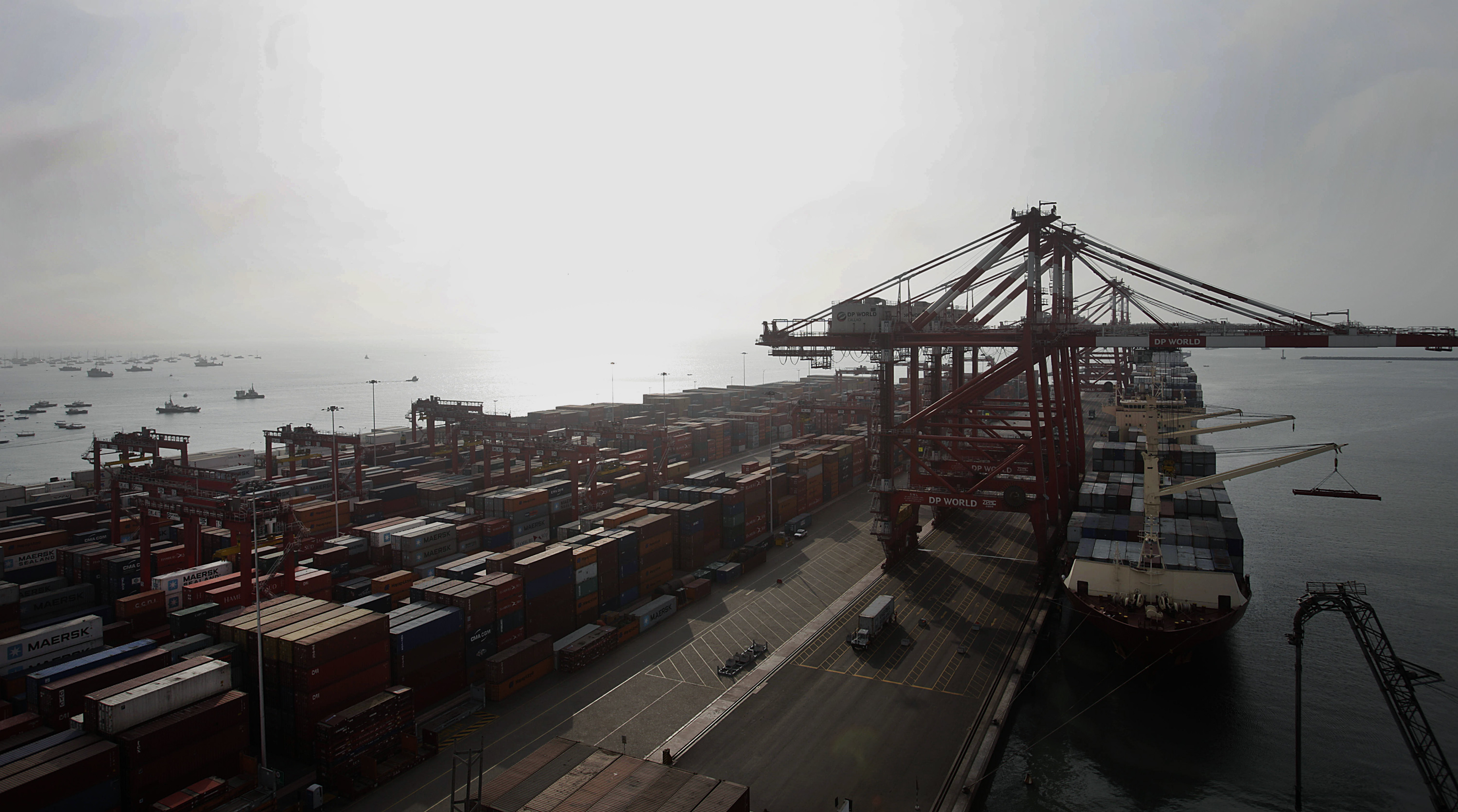 Views From Inside The Port Of Callao As Economic Activity Expands