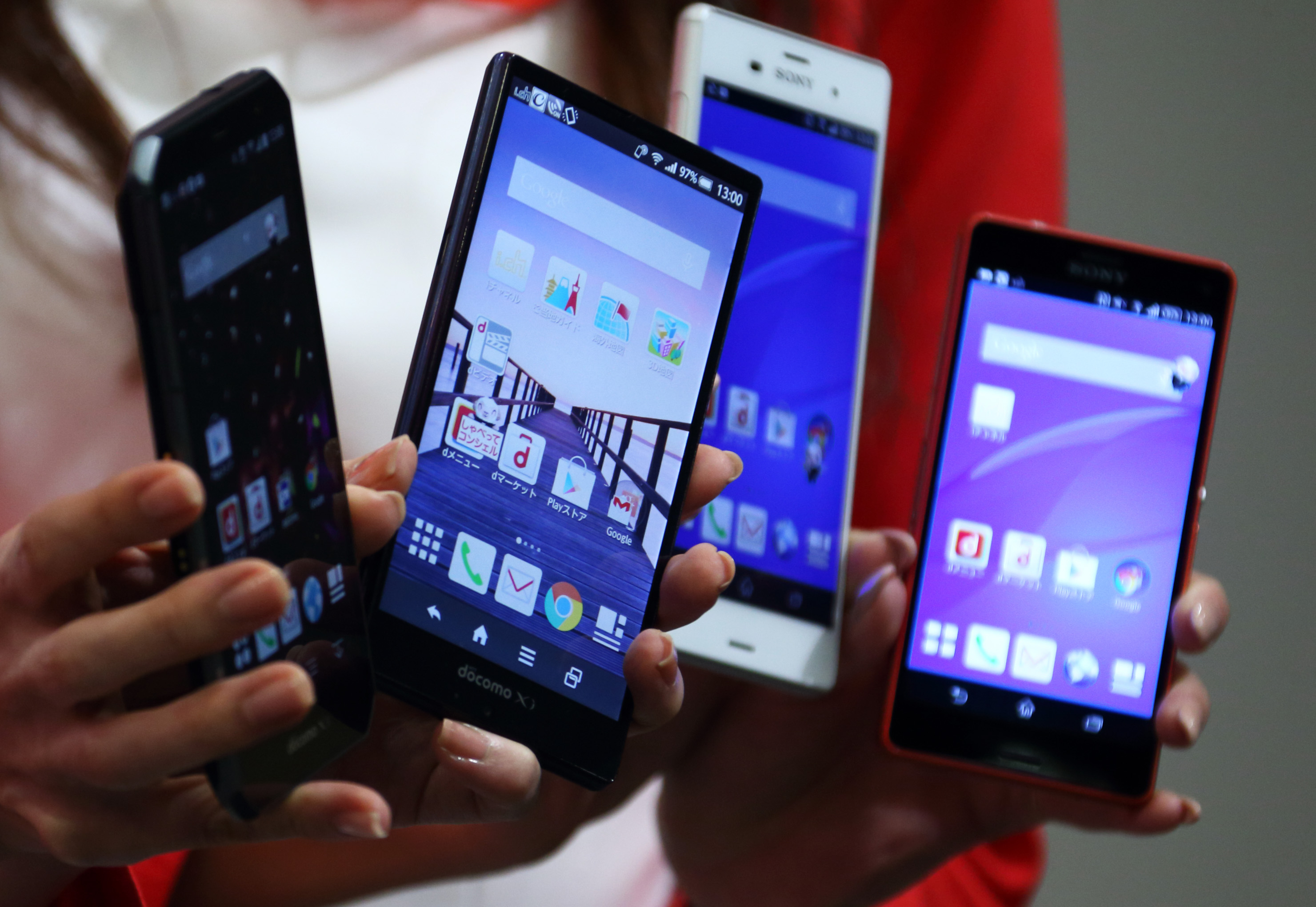 NTT Docomo Inc. President Kaoru Kato Unveils New Smartphones