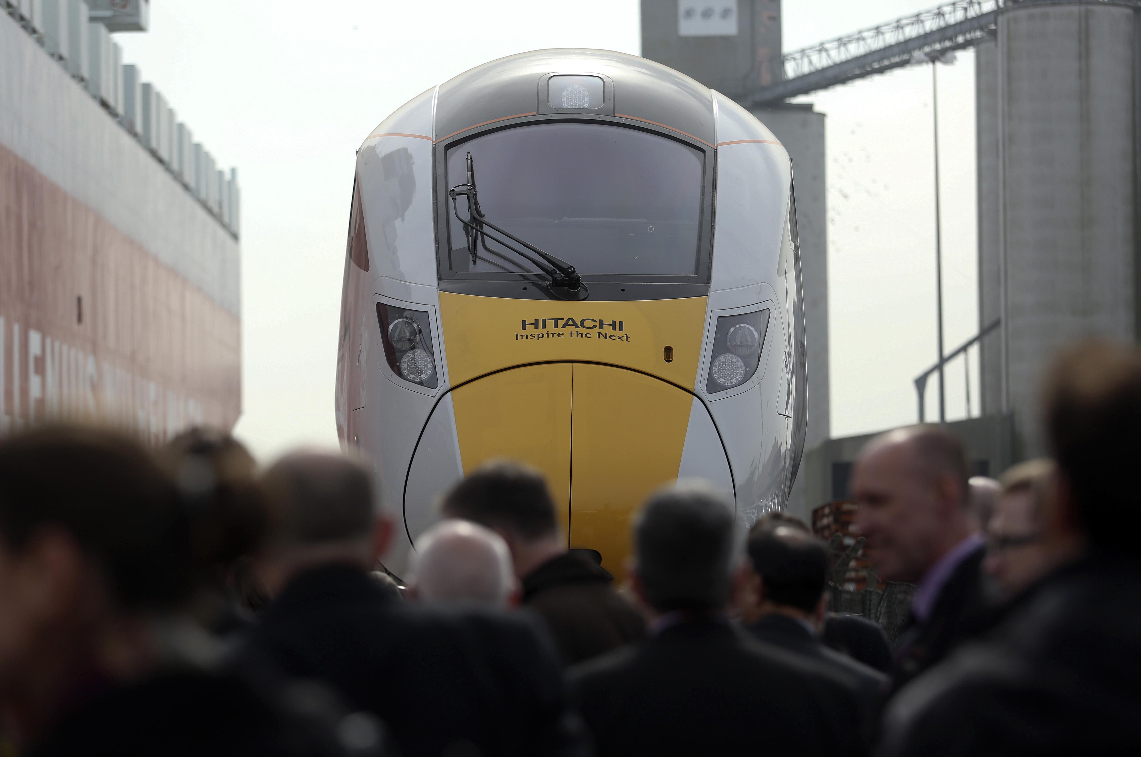 Hitachi Class 800 Intercity Train Unloaded At The Port Of Southampton