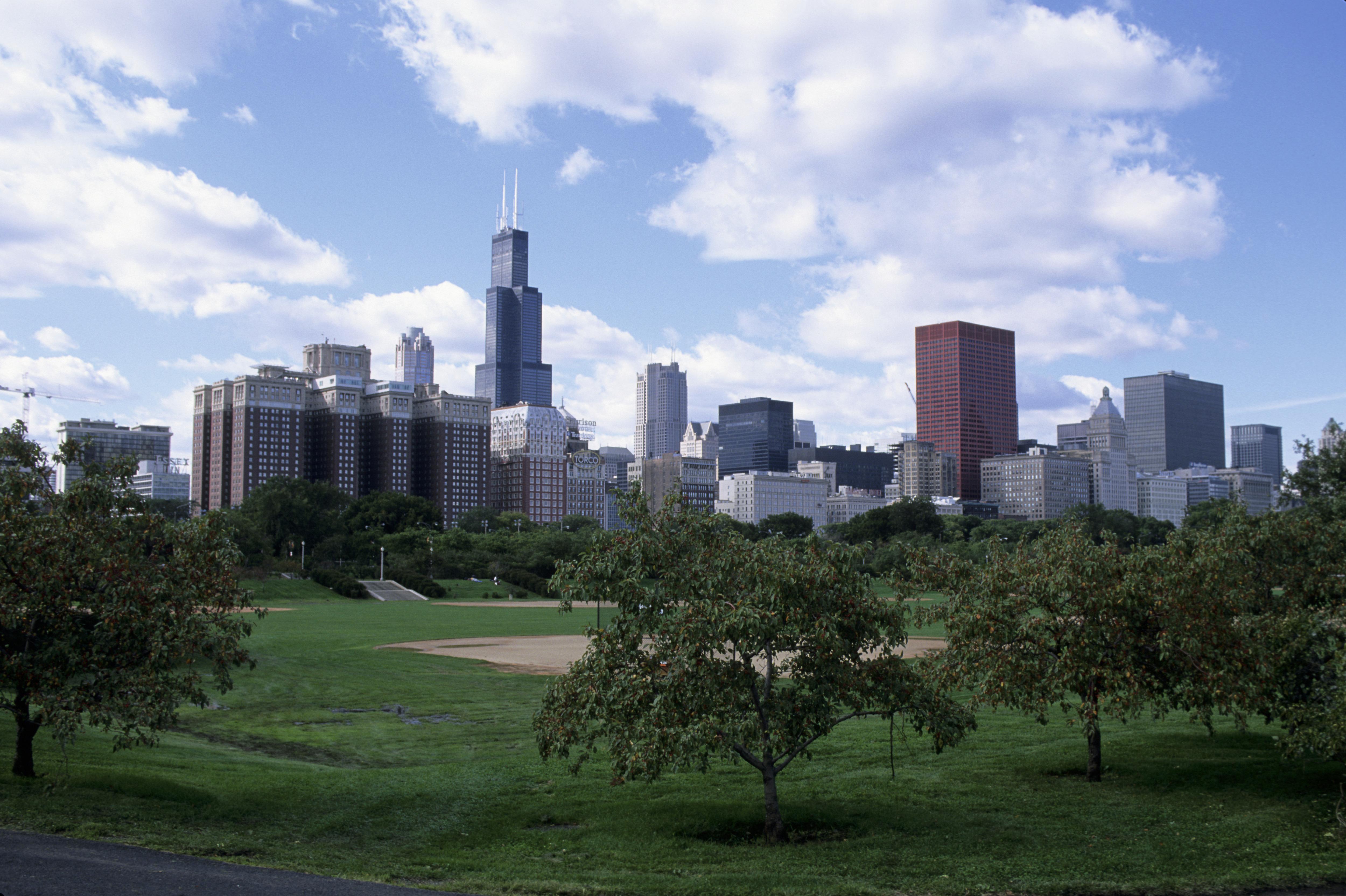 USA, Illinois, Chicago, Grant Park, Chicago Skyline