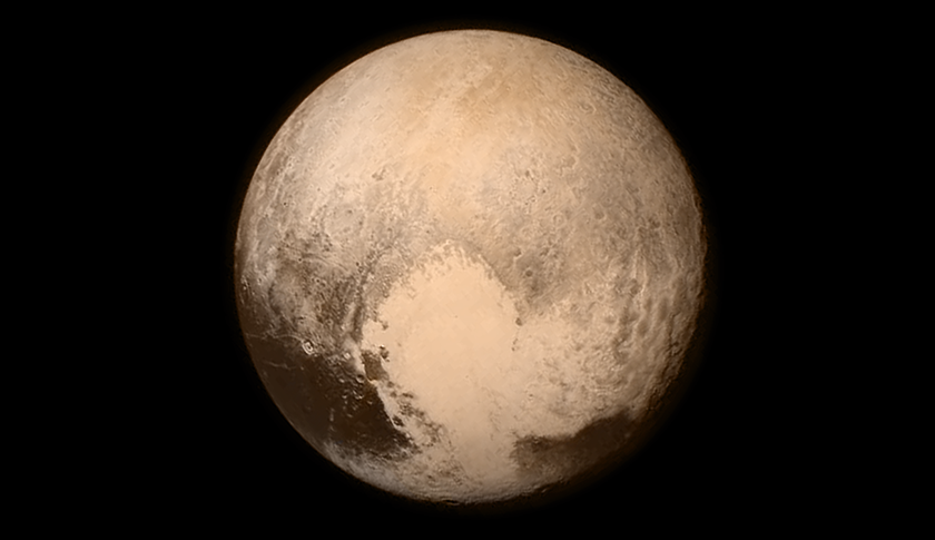 This July 13, 2015 image provided by NASA shows Pluto, seen from the New Horizons spacecraft. The United States is now the only nation to visit every single planet in the solar system. Pluto was No. 9 in the lineup when New Horizons departed Cape Canaveral, Fla, on Jan. 19, 2006
