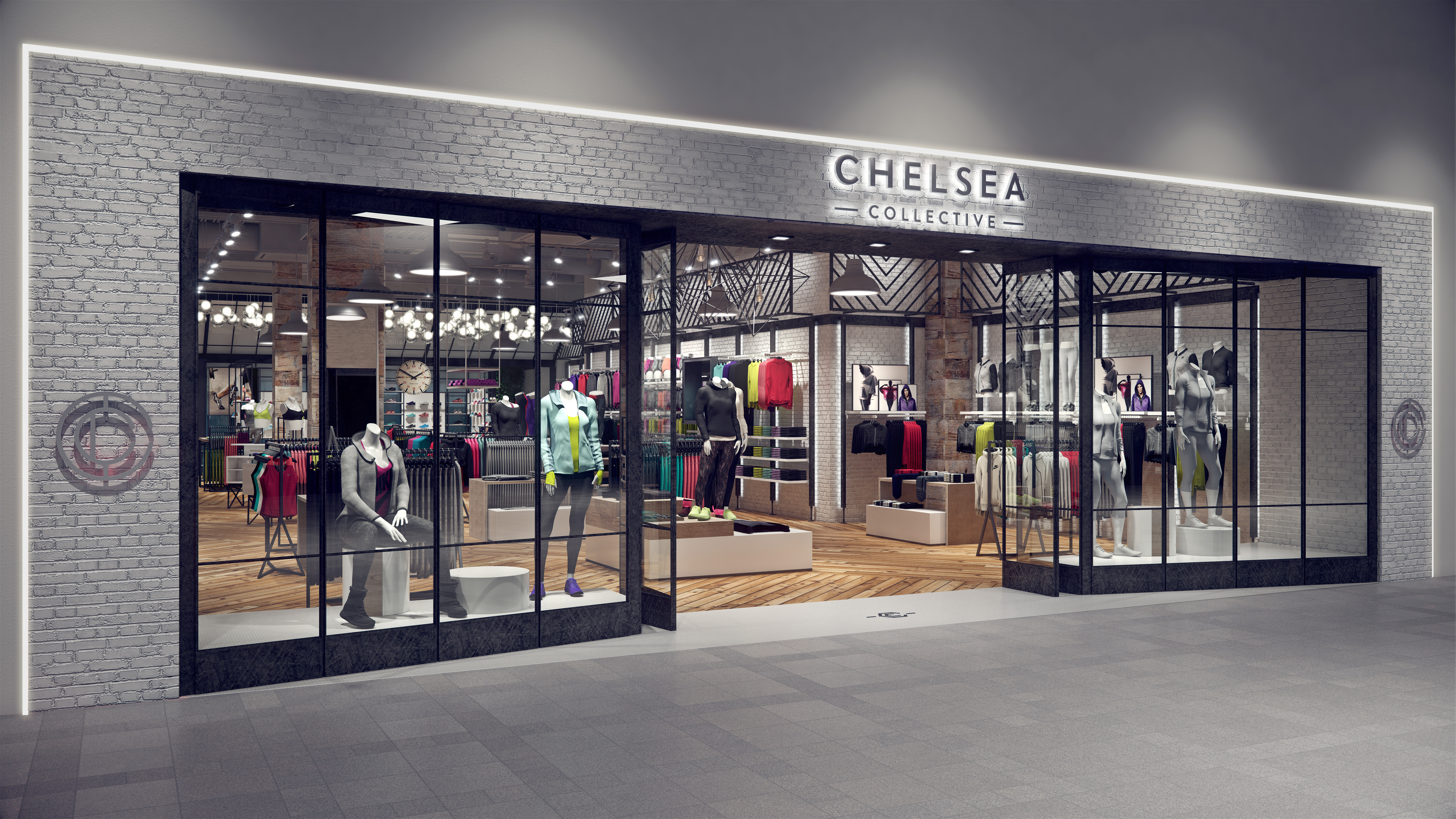 A rendering of what the female-focused Chelsea Collective store will look like when it opens later this year.