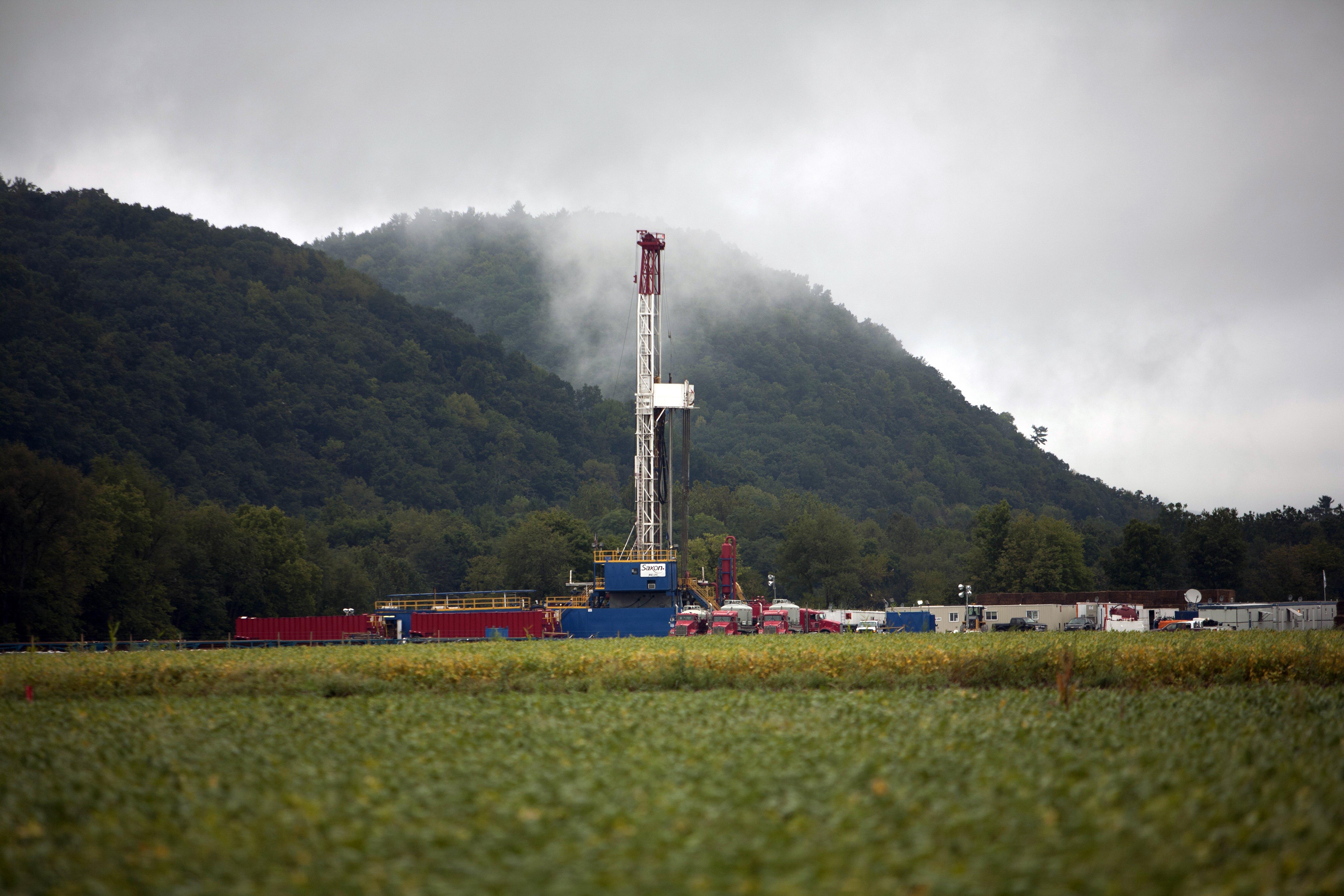 Drilling Rig On a Pennsylvania Farm