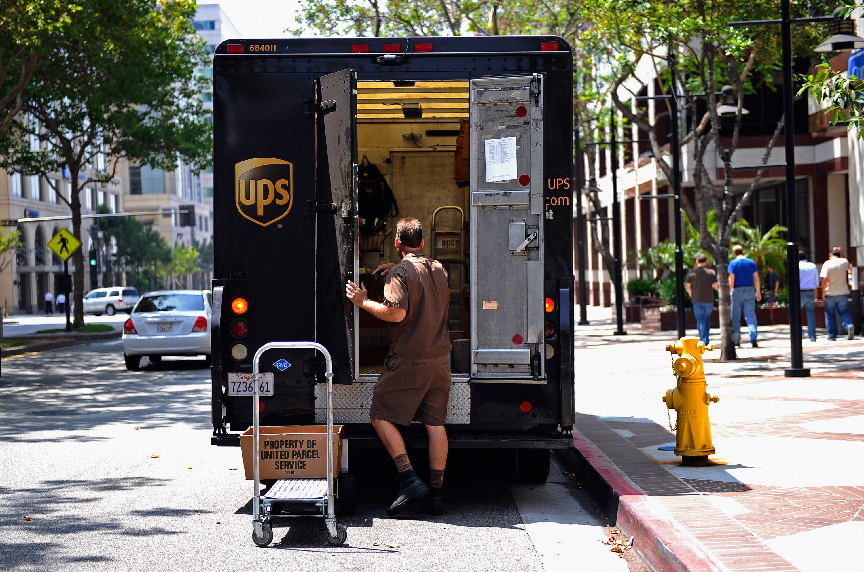 UPS's Income Rises 90 Percent