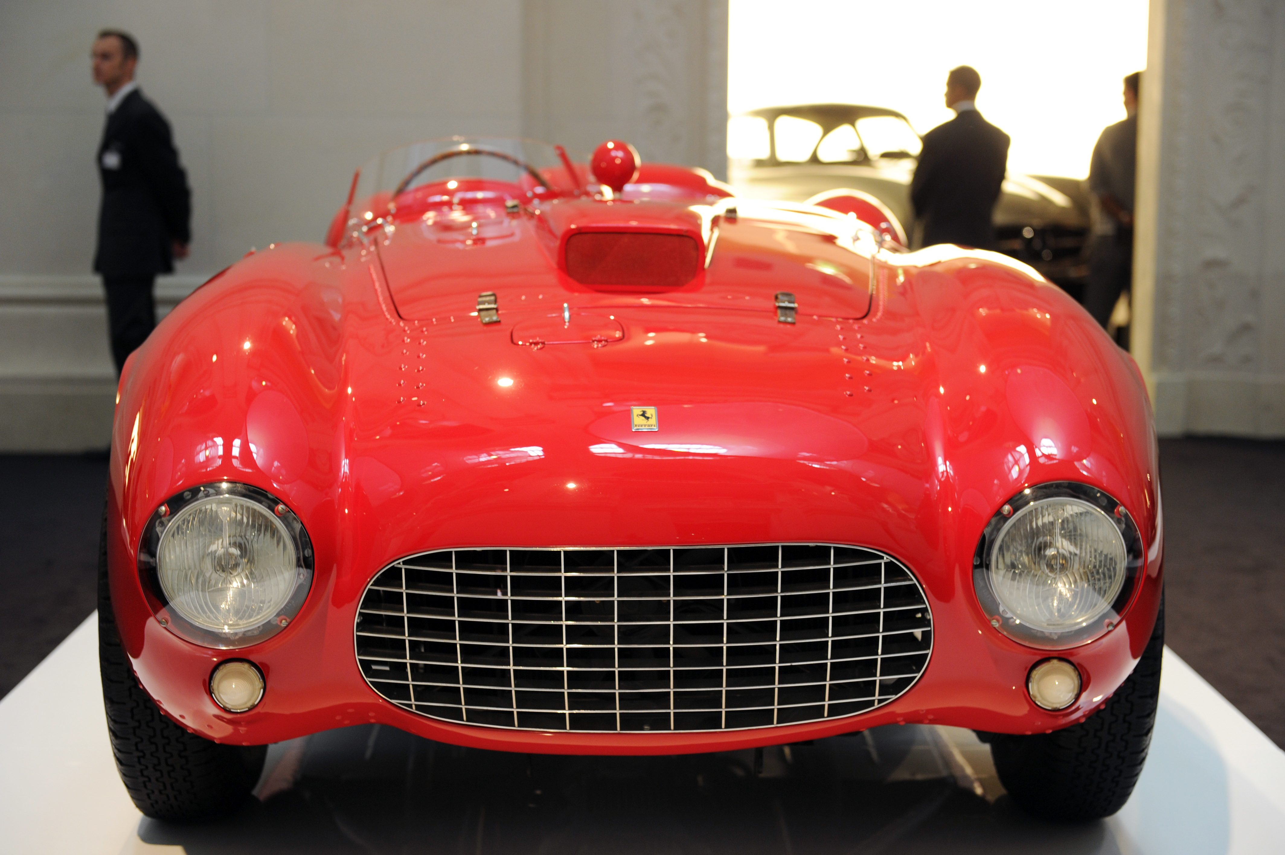 A Ferrari 375 Plus of 1954 is shown on A