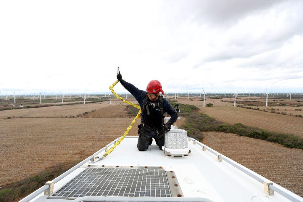 Operations At A Comision Federal de Electricidad Wind Farm