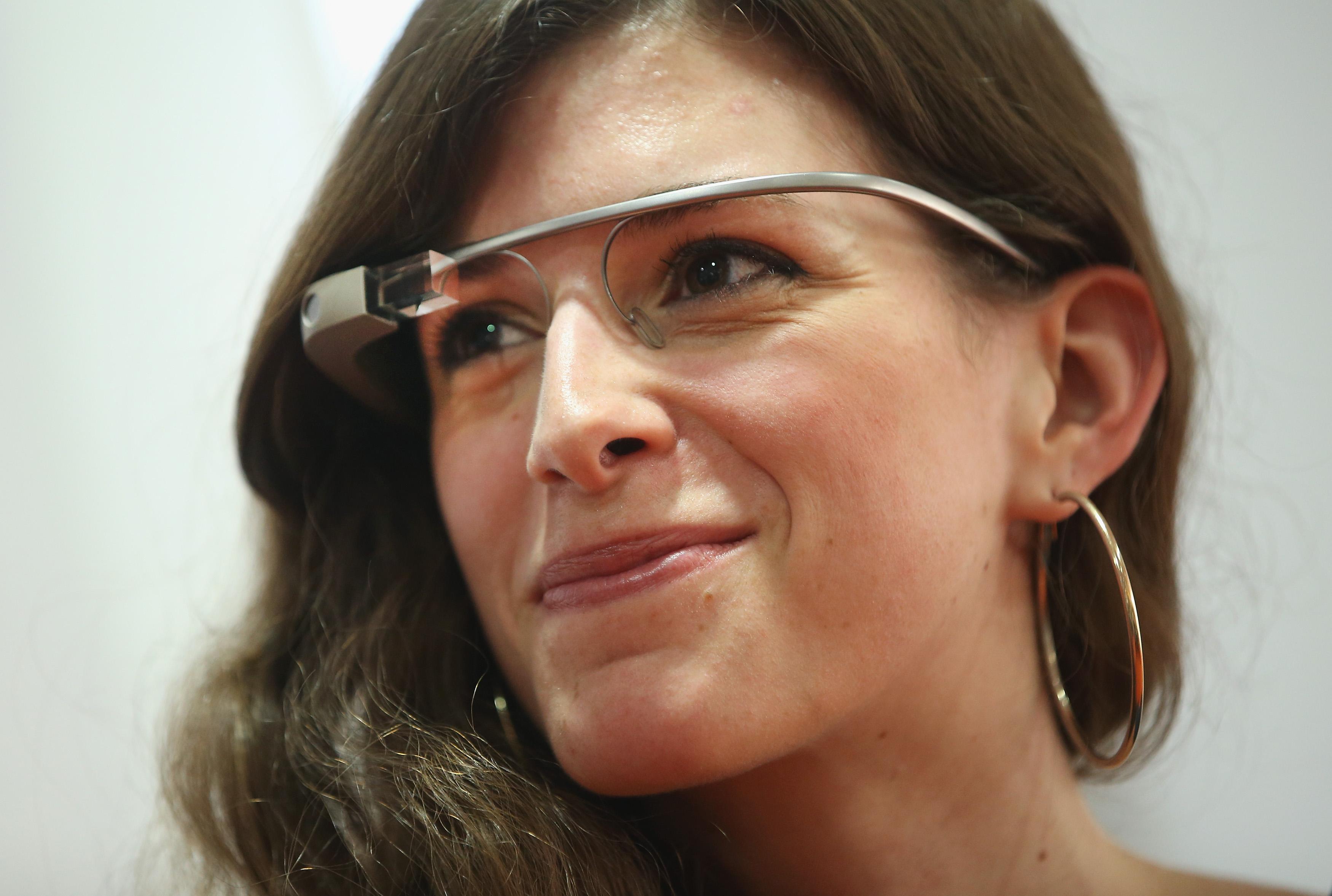 Woman Wears Google Glass