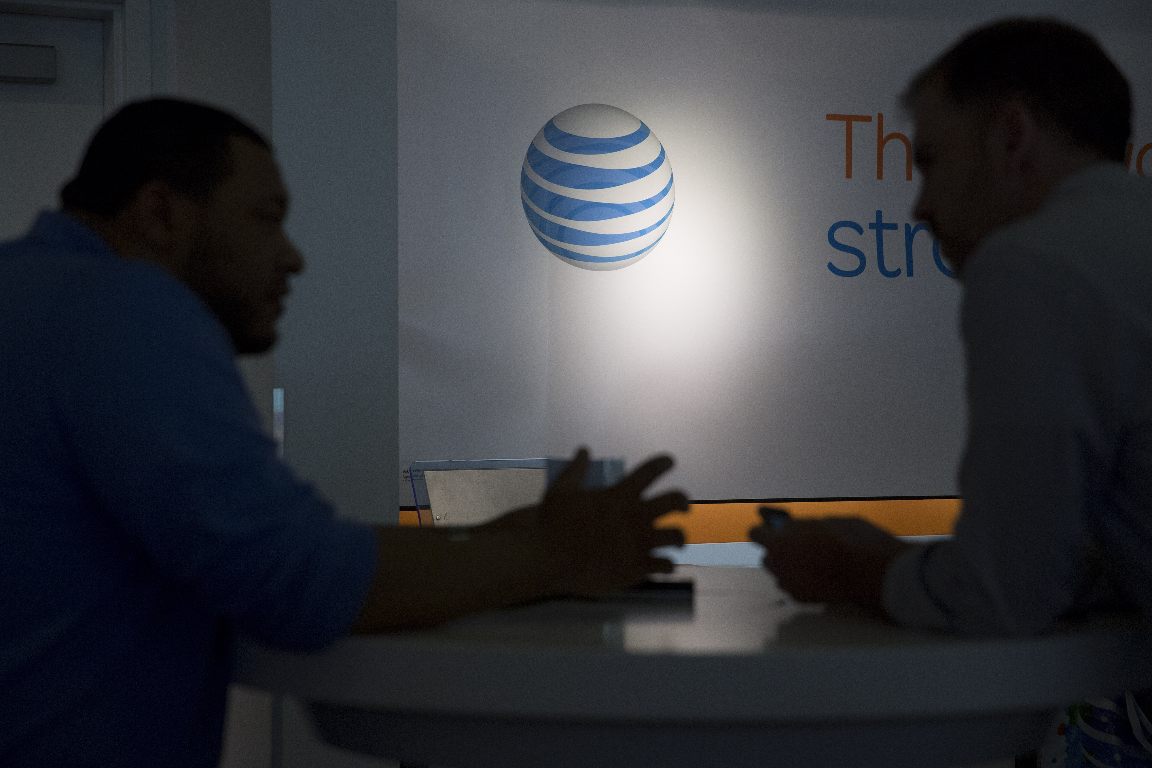 Inside An AT&T Inc. Store Ahead Of Earnings Figures