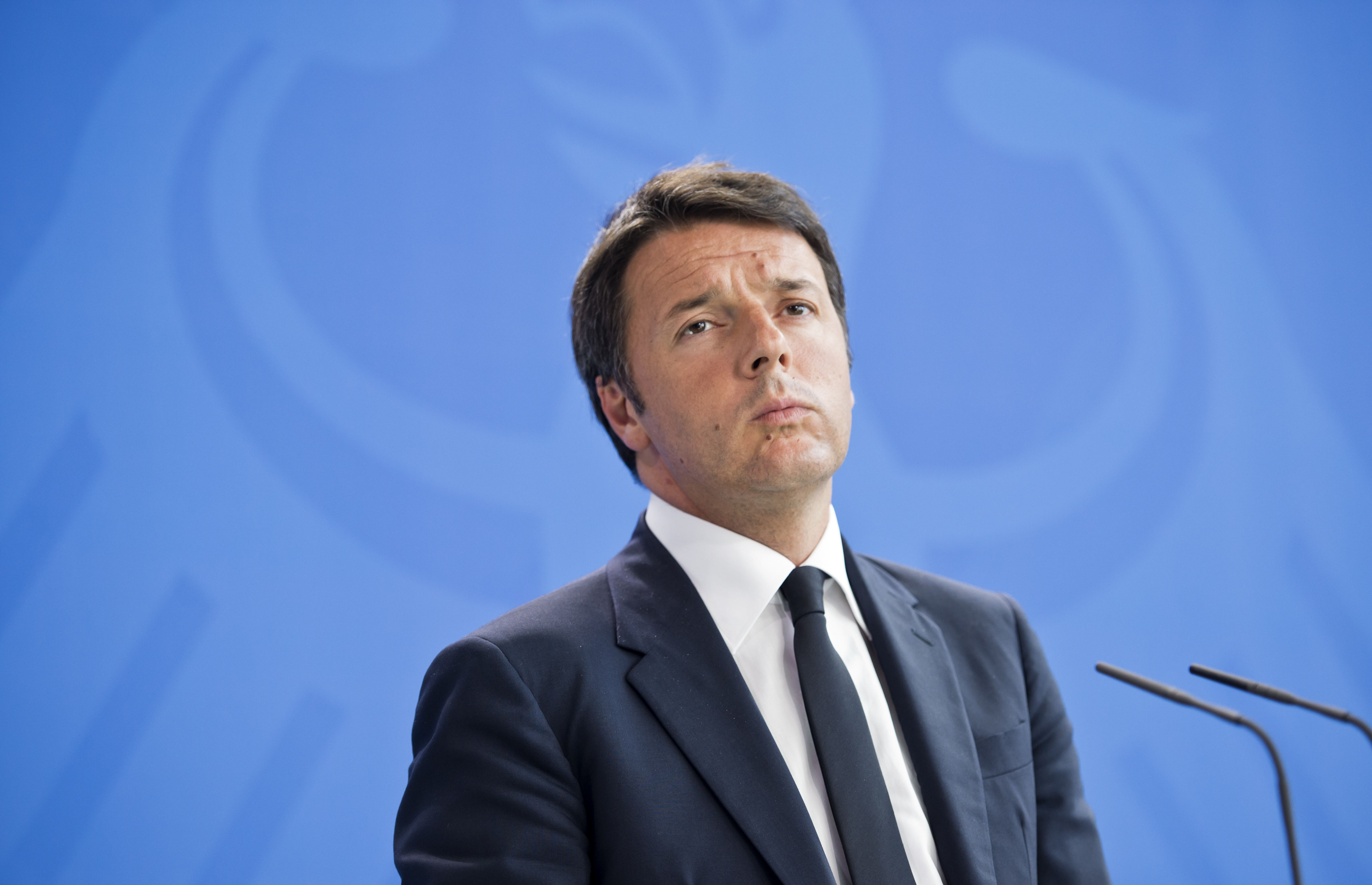 Matteo Renzi Visits Berlin