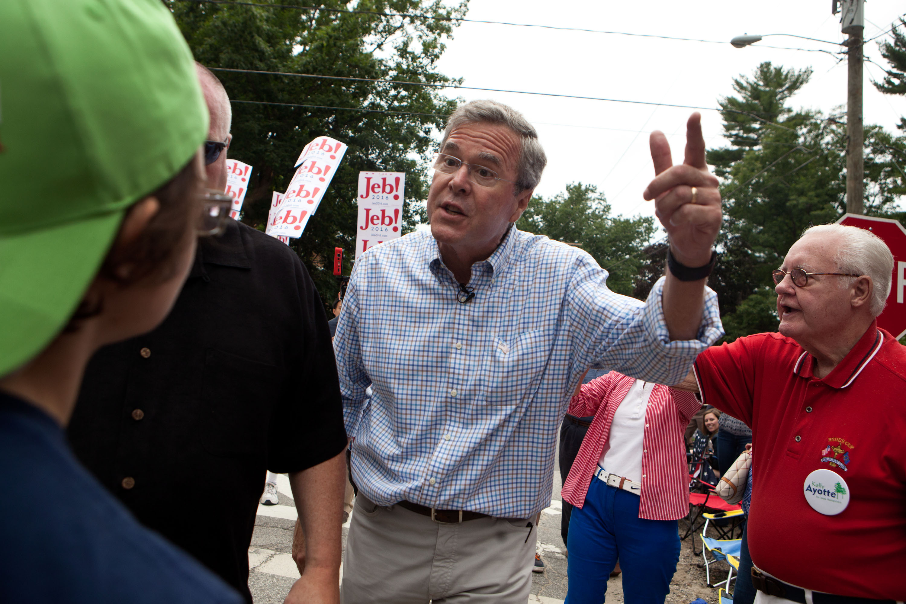 Republican Presidential Candidate Jeb Bush Campaigns In New Hampshire On July 4th