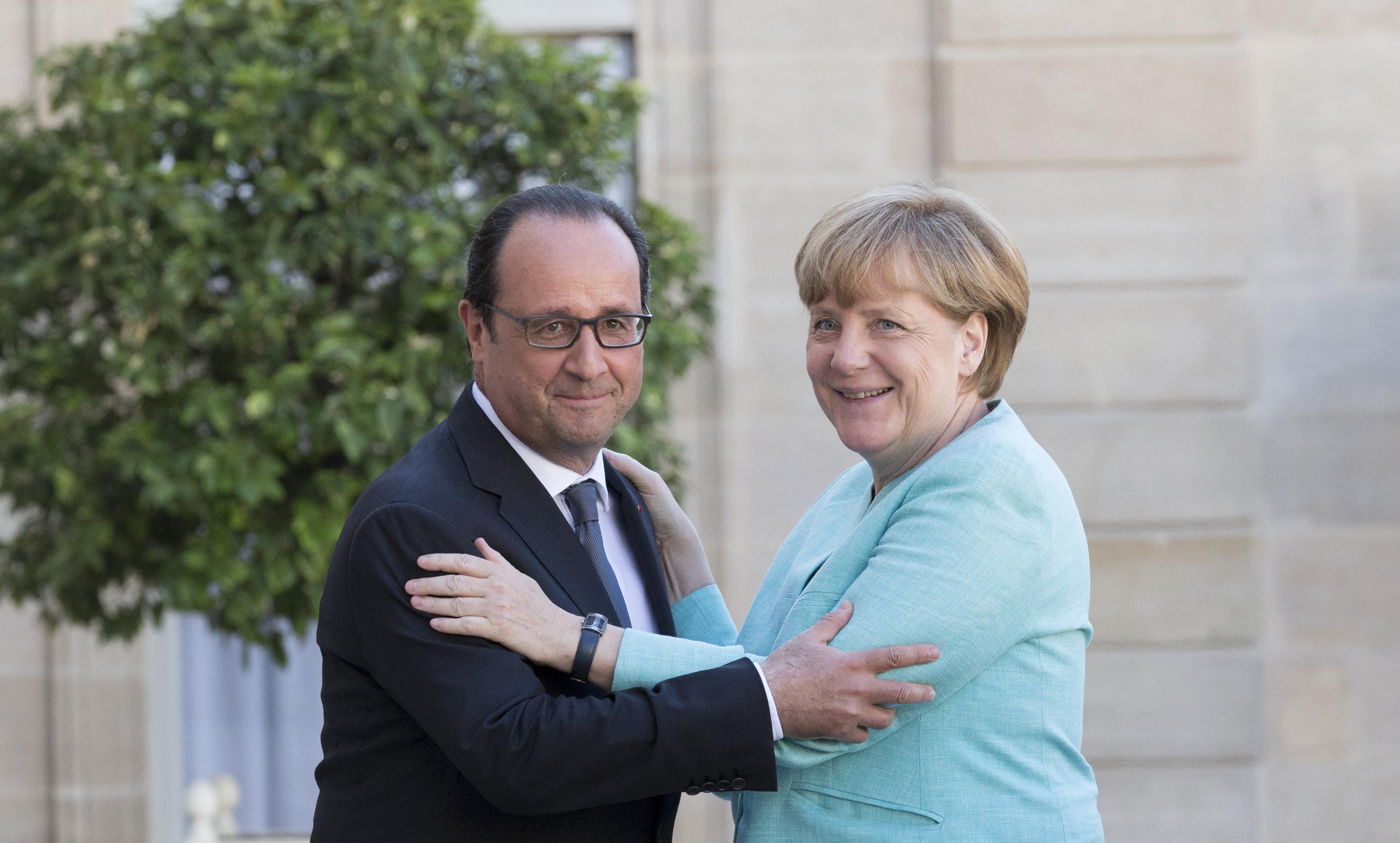 Germany's Chancellor Angela Merkel And France's President Francois Hollande Meet To Access Greek Situation