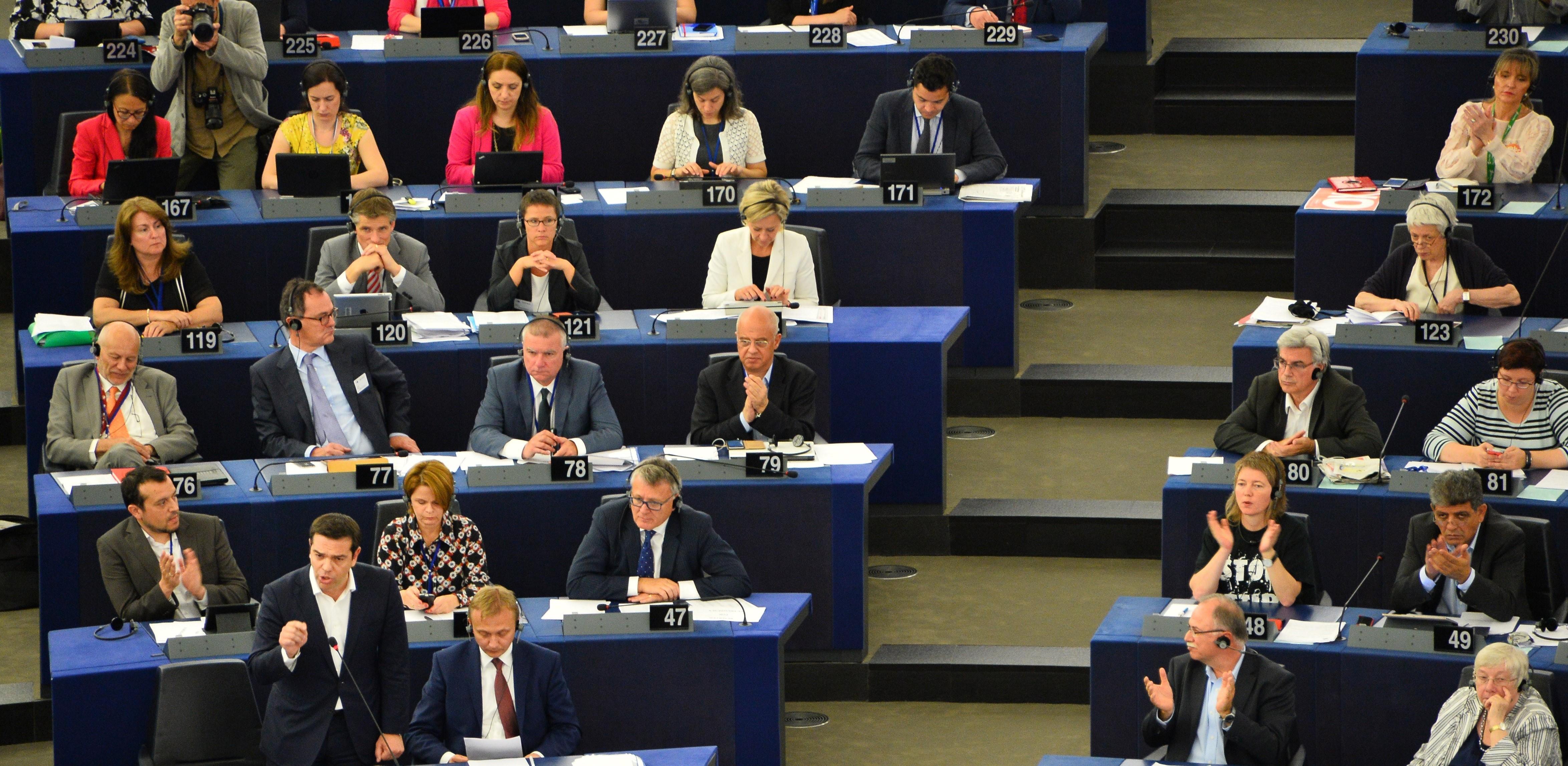 Alexis Tsipras at the European Parliament