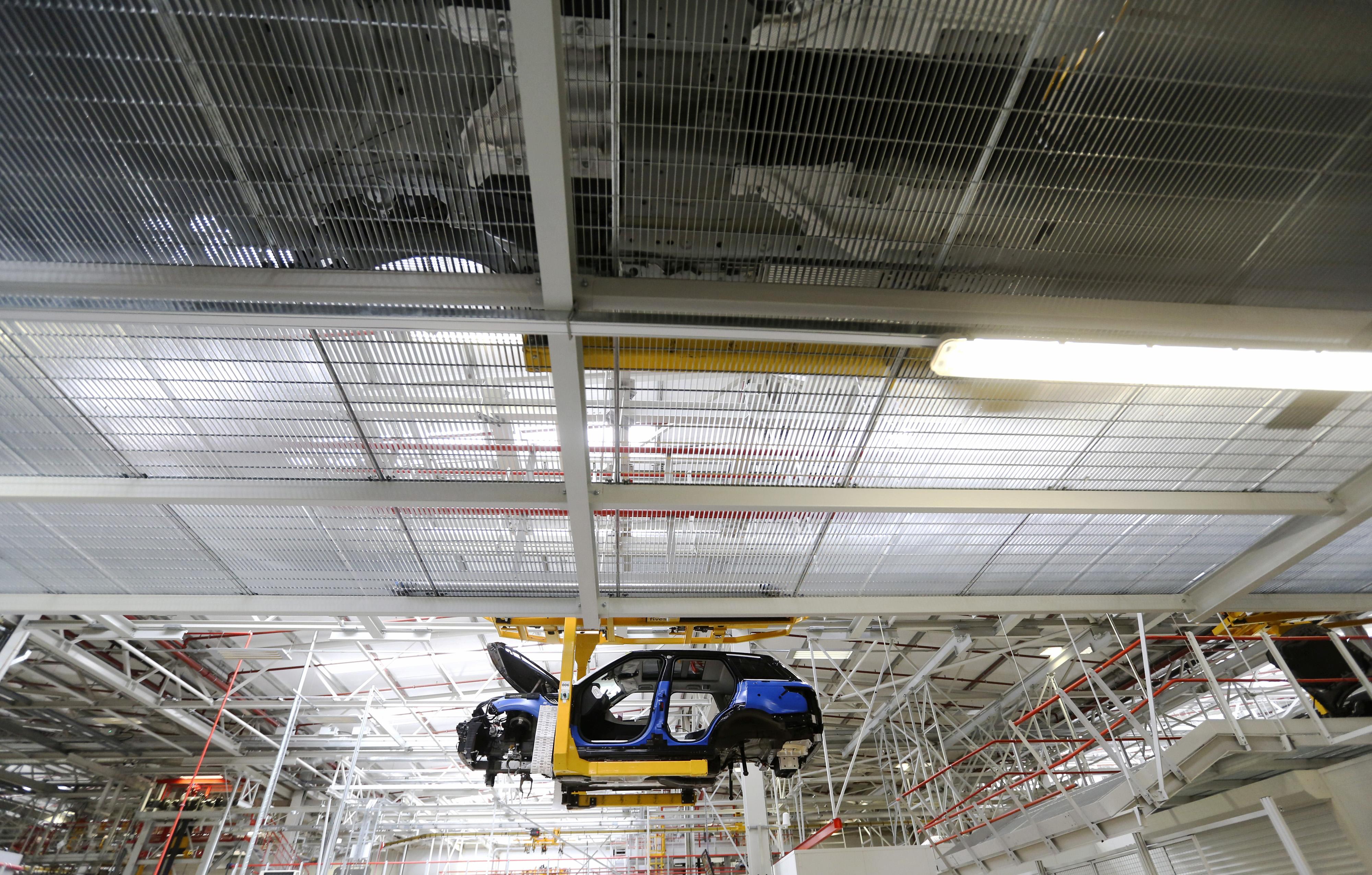 U.K. Range Rover Production Line At Jaguar Land Rover Plant