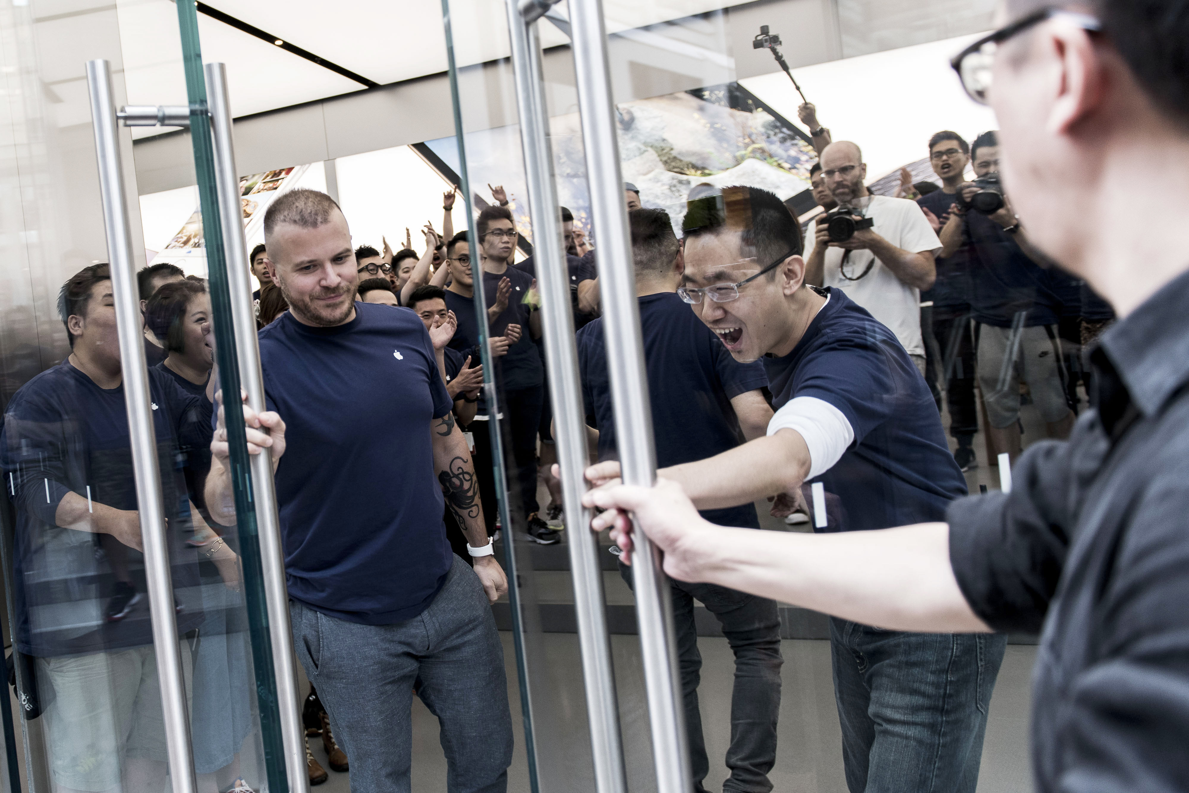 Apple Inc. Opens New Hong Kong Store On Canton Road