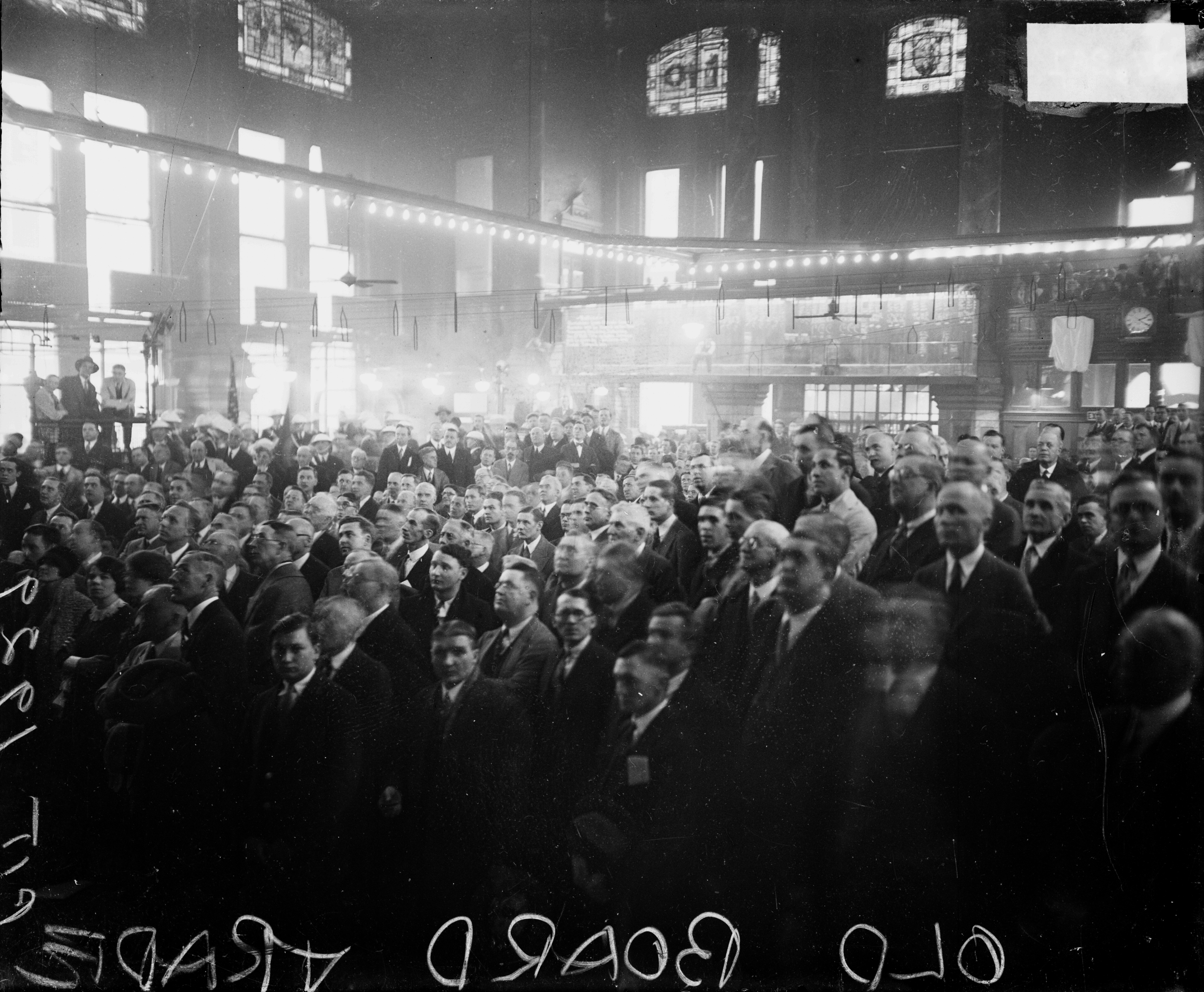Crowd At Chicago's Board Of Trade