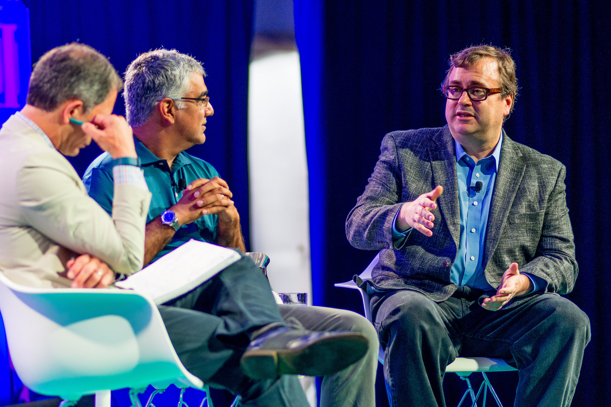 Reid Hoffman (r) at Fortune Brainstorm Tech
