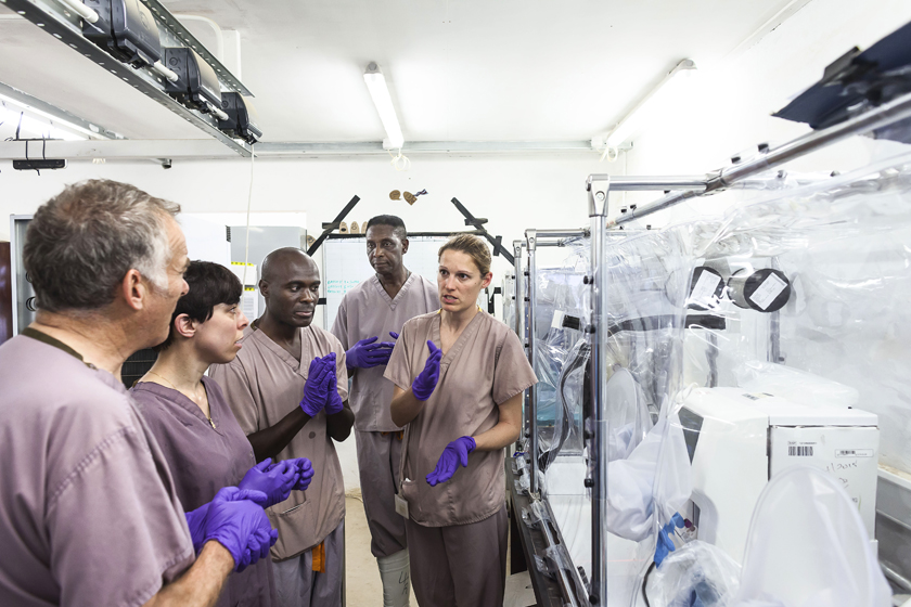 Sierra Leone ebola vaccine research. 2015
