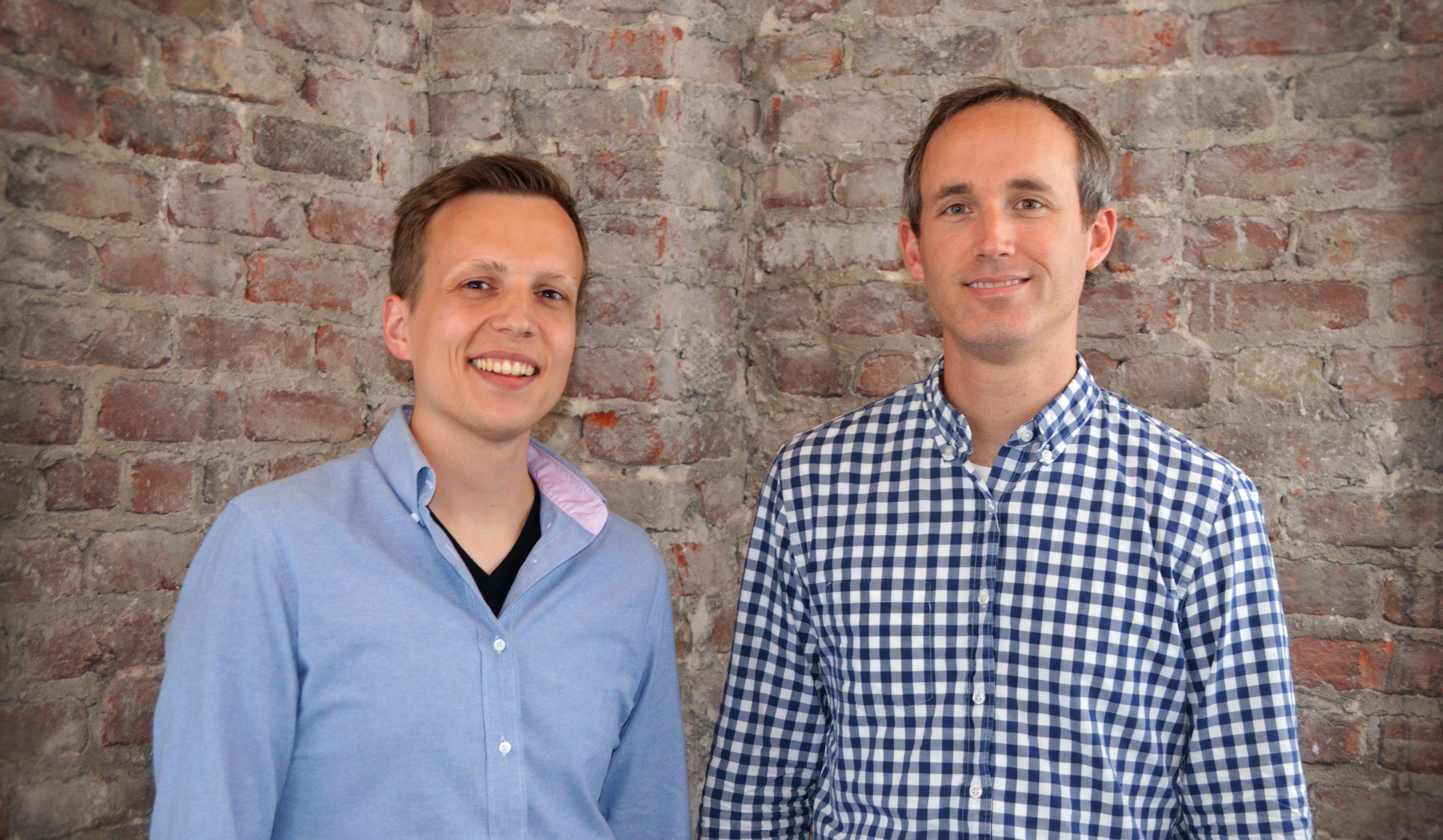 Rescale co-founders Joris Poort (left) and Adam McKenzie