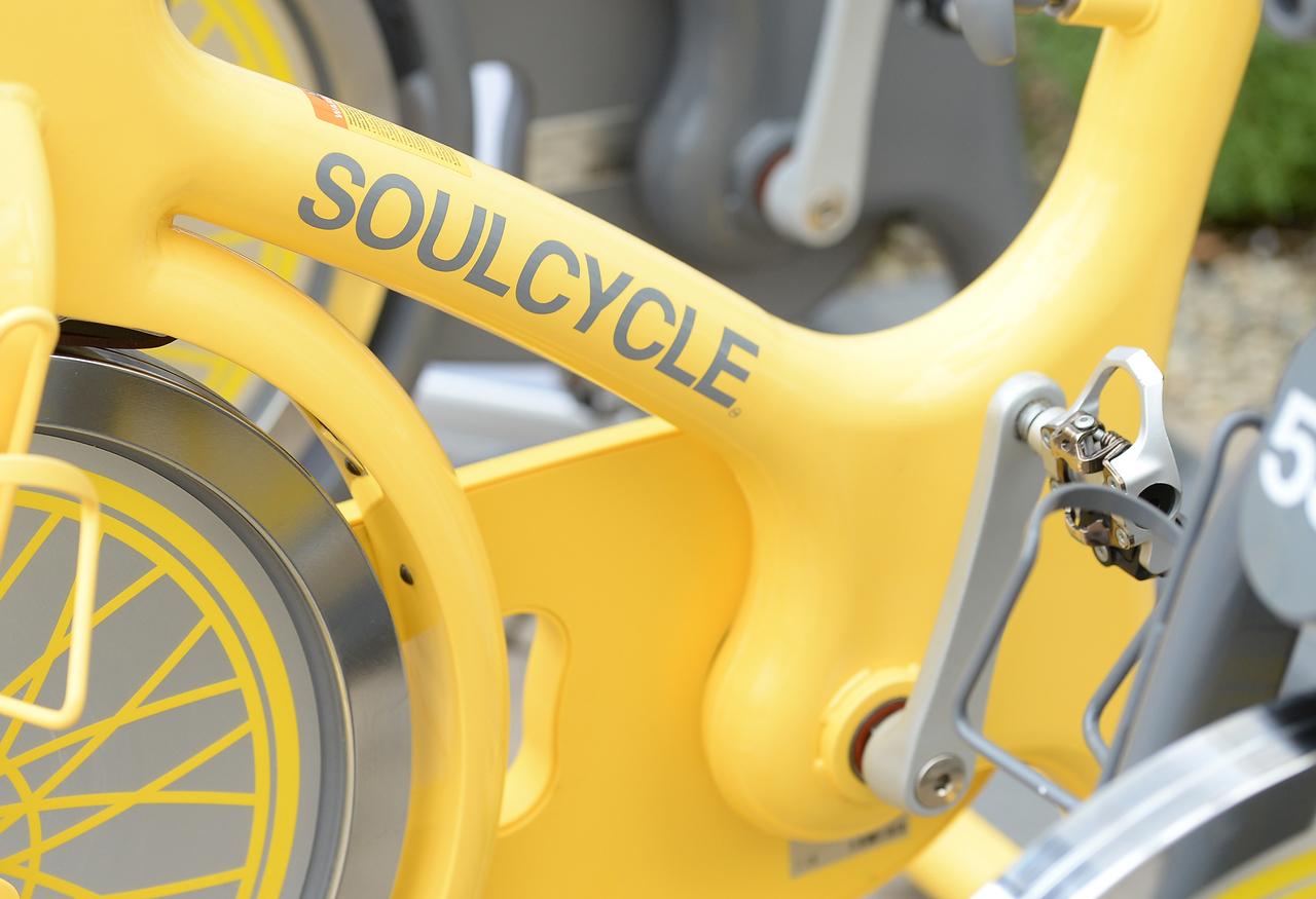 A SoulCycle bike.