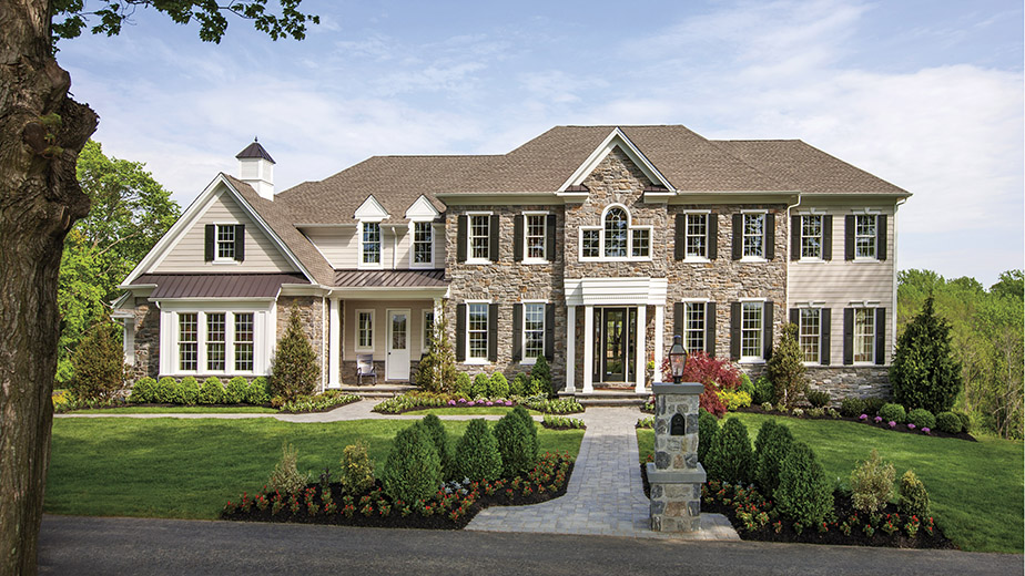 A home at Weatherstone Manor at Liseter, a Toll Brothers development in Newtown Square, PA.
