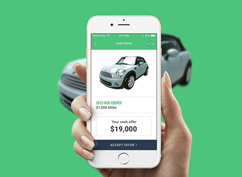 A screenshot of the Vroom.com used car retailer site.