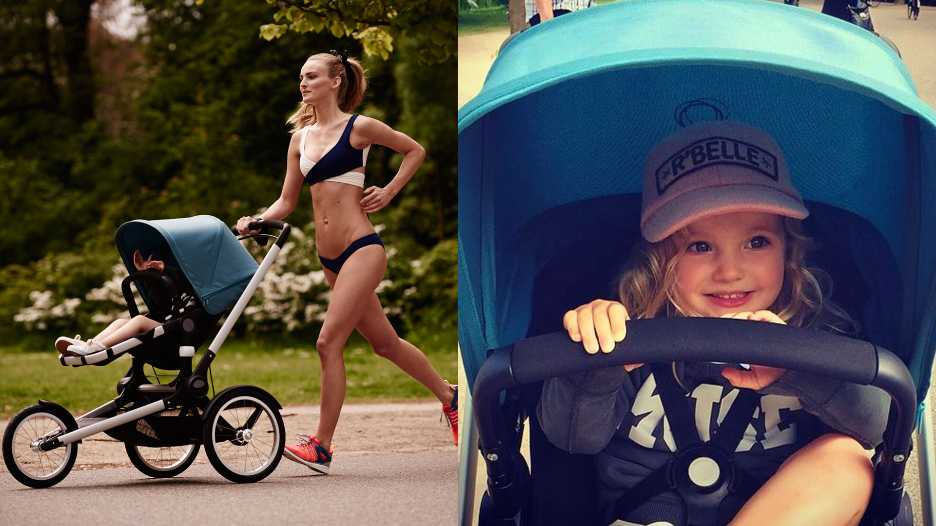 Model Ymre Stiekema for a Bugaboo shoot.