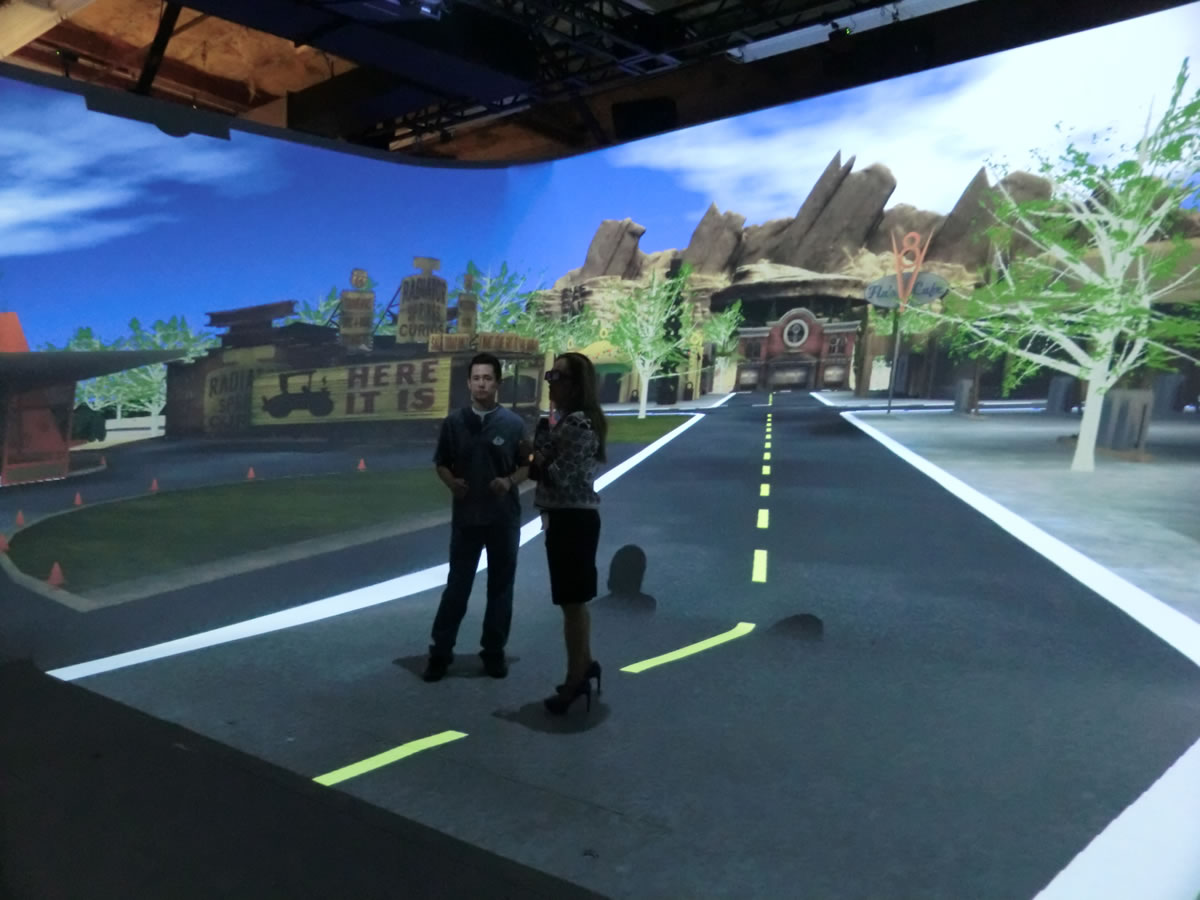 Walt Disney Imagineering was able to experience Disneyland's Cars Land before it was built using VR technology