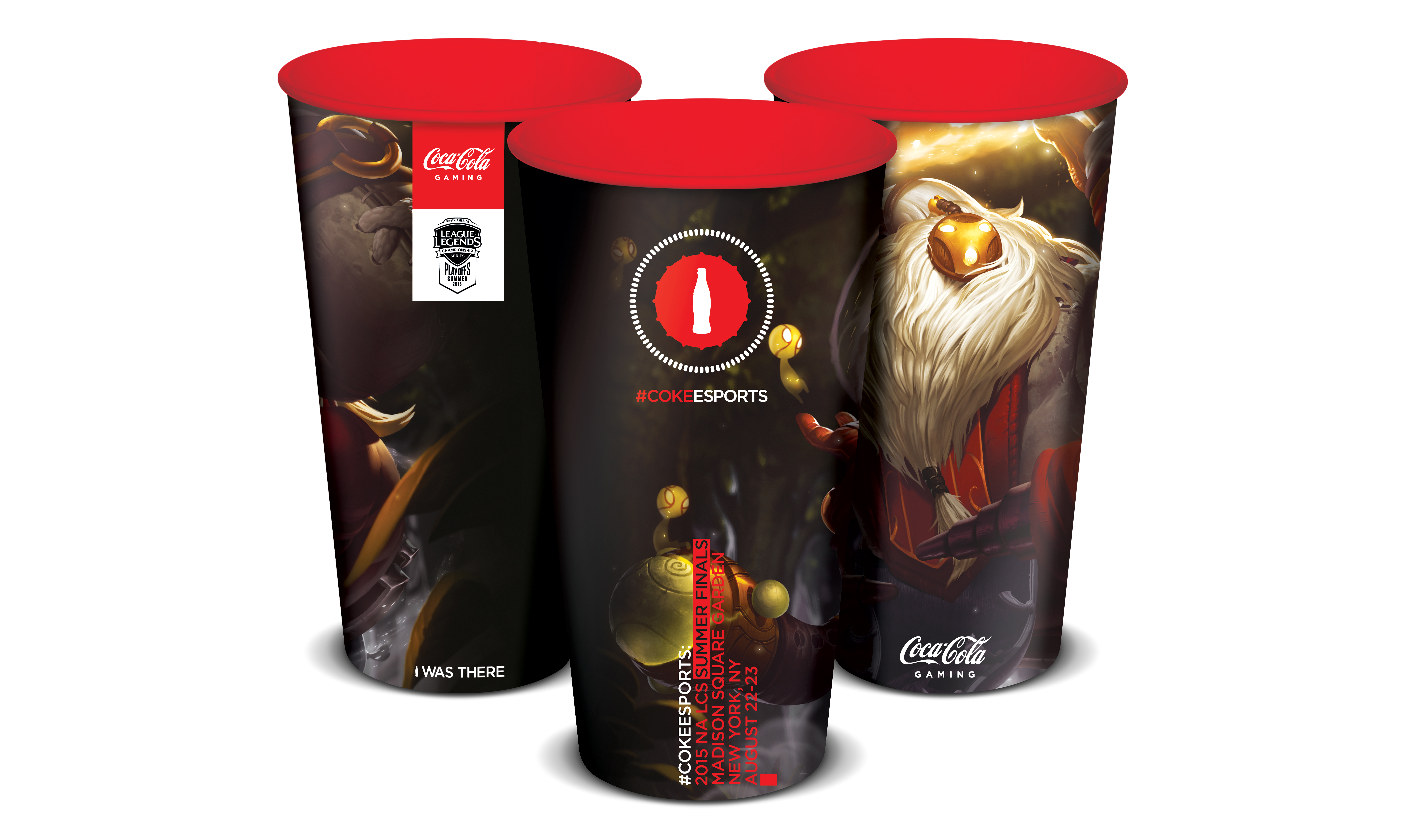 Coca-Cola will be supporting the League of Legends Madison Square Garden event with collectible cups.