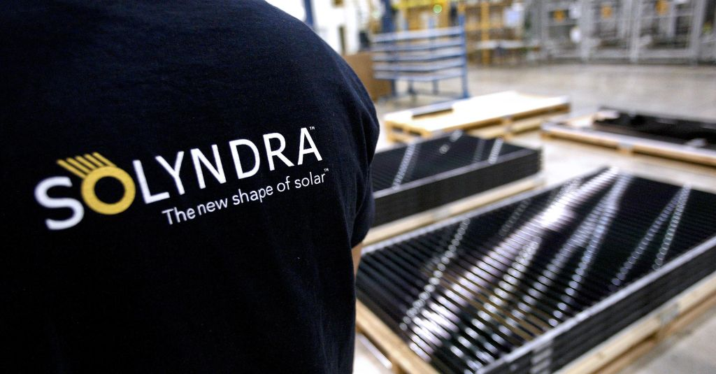 Solyndra Solar Cell Arrays At Fremont Manufacturing Plant