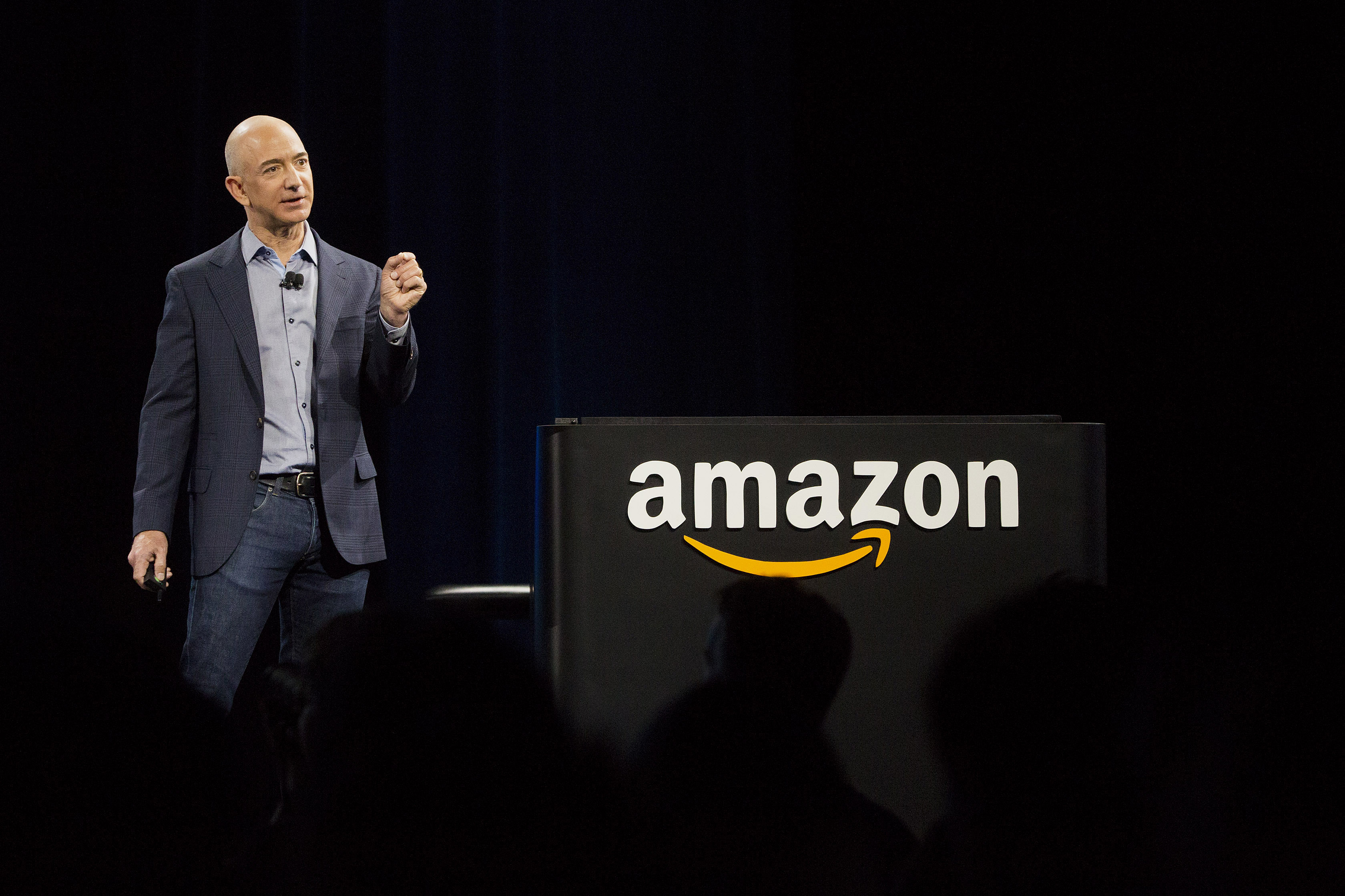 Jeff Bezos, chief executive officer of Amazon.