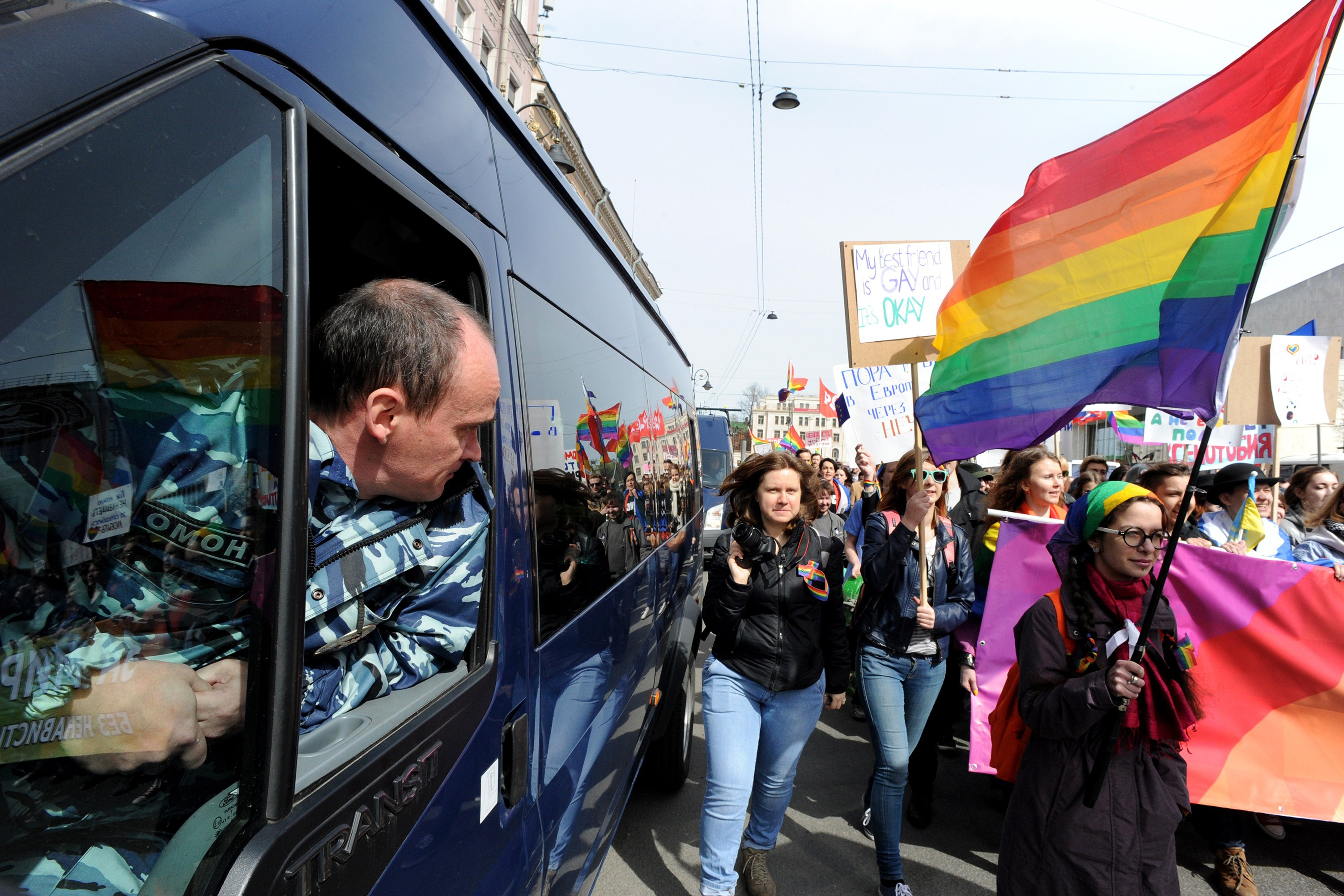 RUSSIA-MAY1-LABOUR-PROTEST-GAY